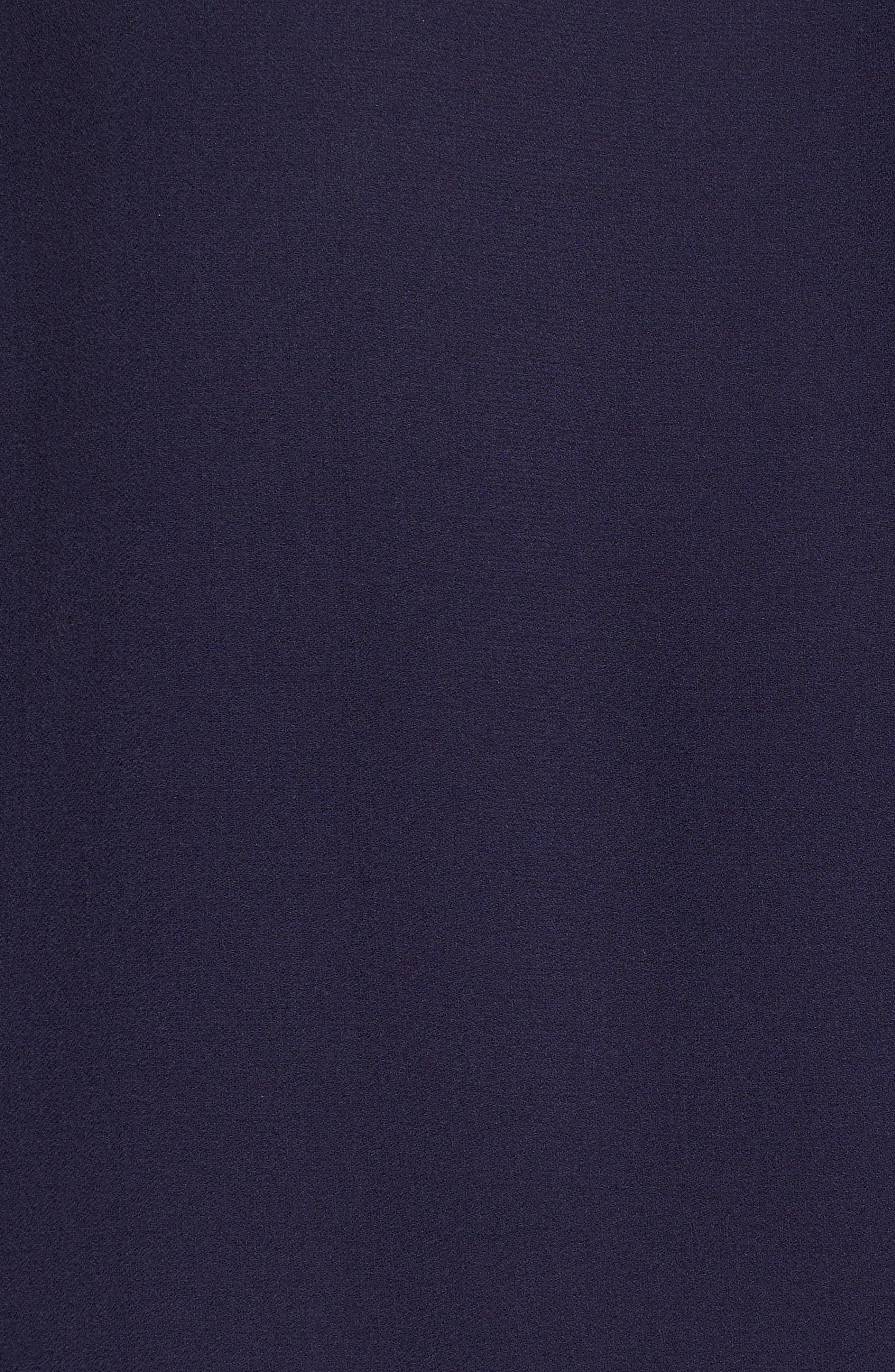 Flare Sleeve Silk Dress,                             Alternate thumbnail 5, color,                             Salt Lake