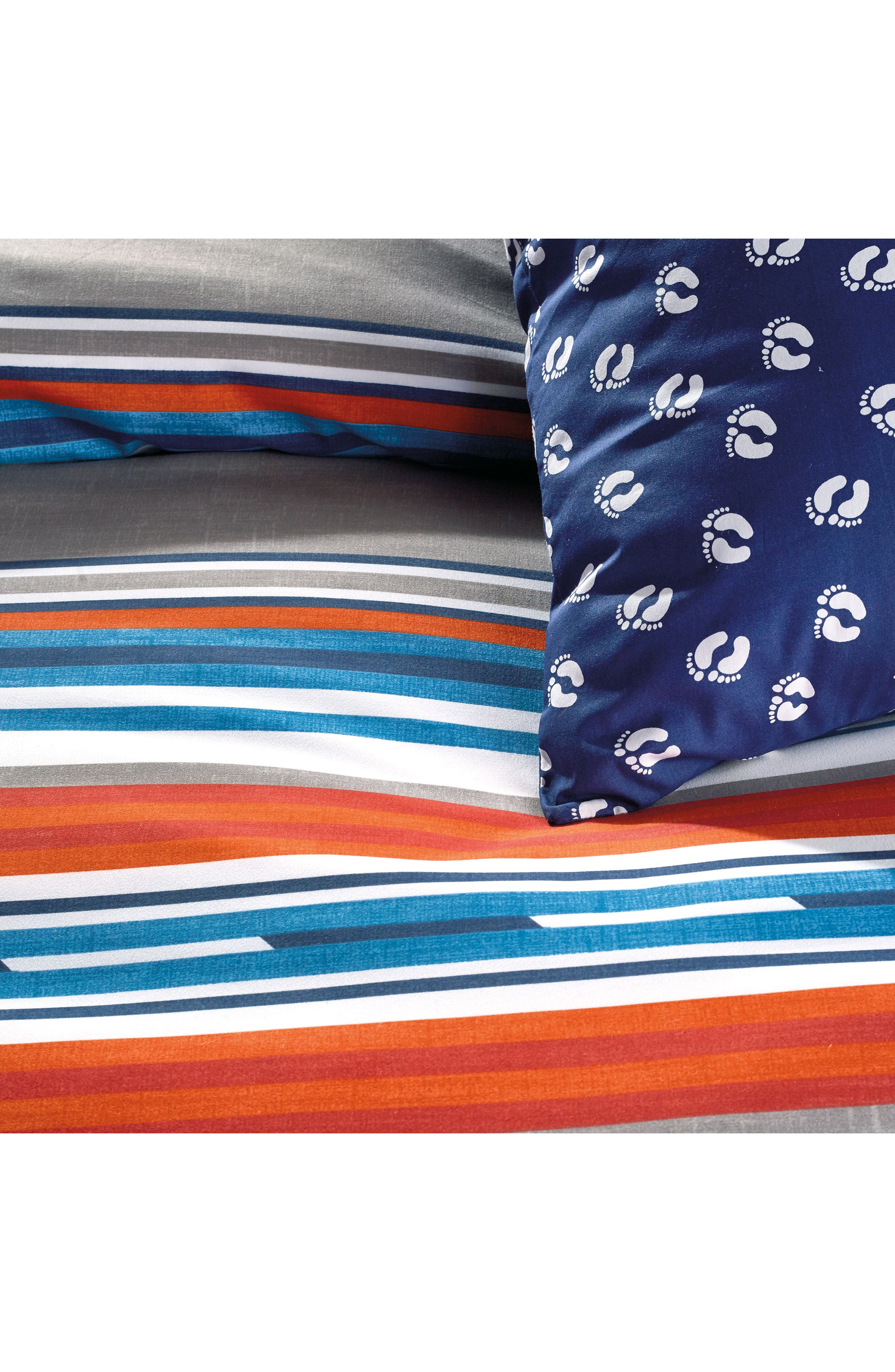 Surfboard Stripe Comforter & Sham Set,                             Alternate thumbnail 2, color,                             Grey