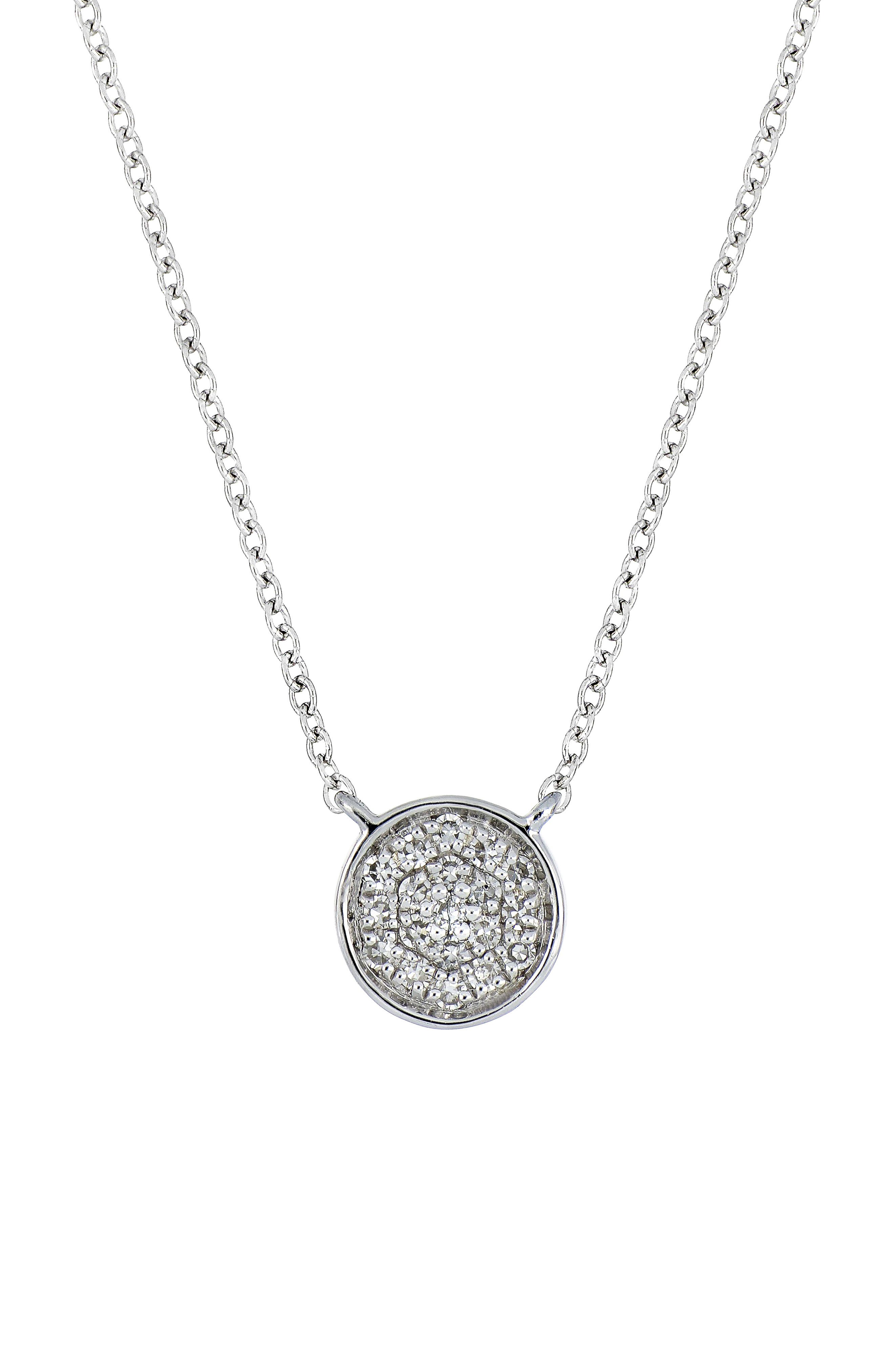 Carrière Diamond Pavé Disc Pendant (Nordstrom Exclusive)
