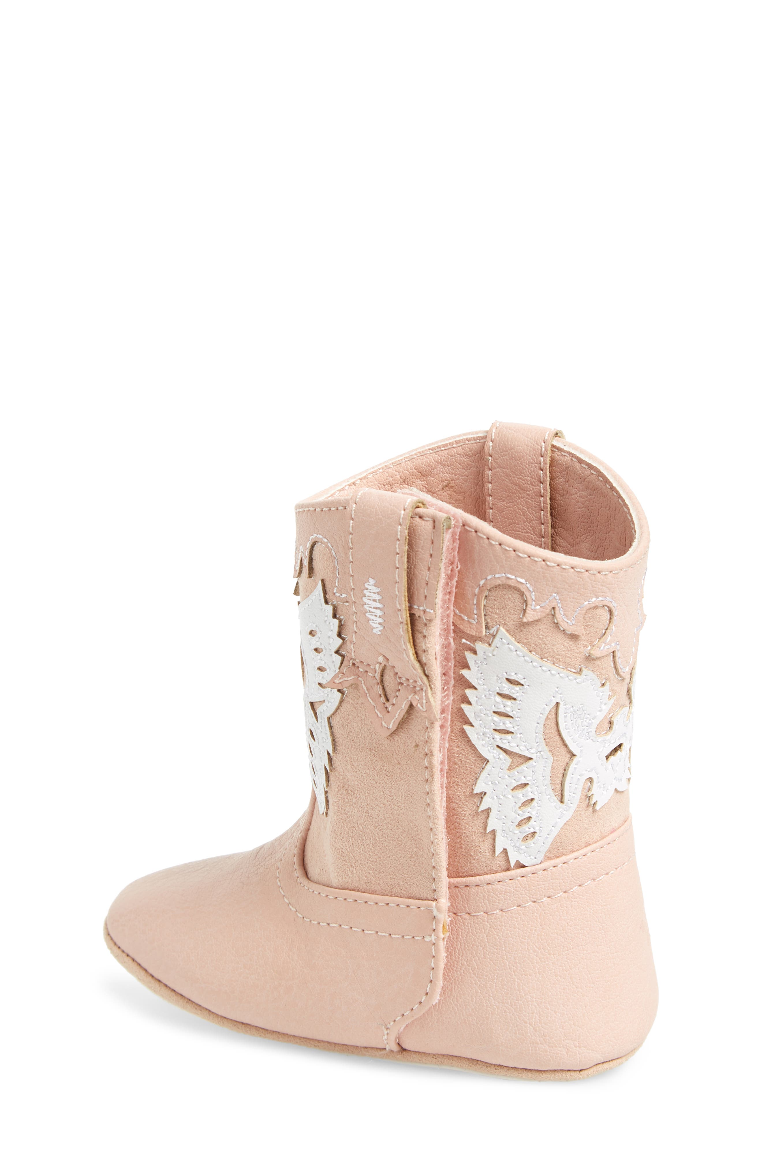 Baby Firebird Western Crib Bootie,                             Alternate thumbnail 2, color,                             Baby Pink