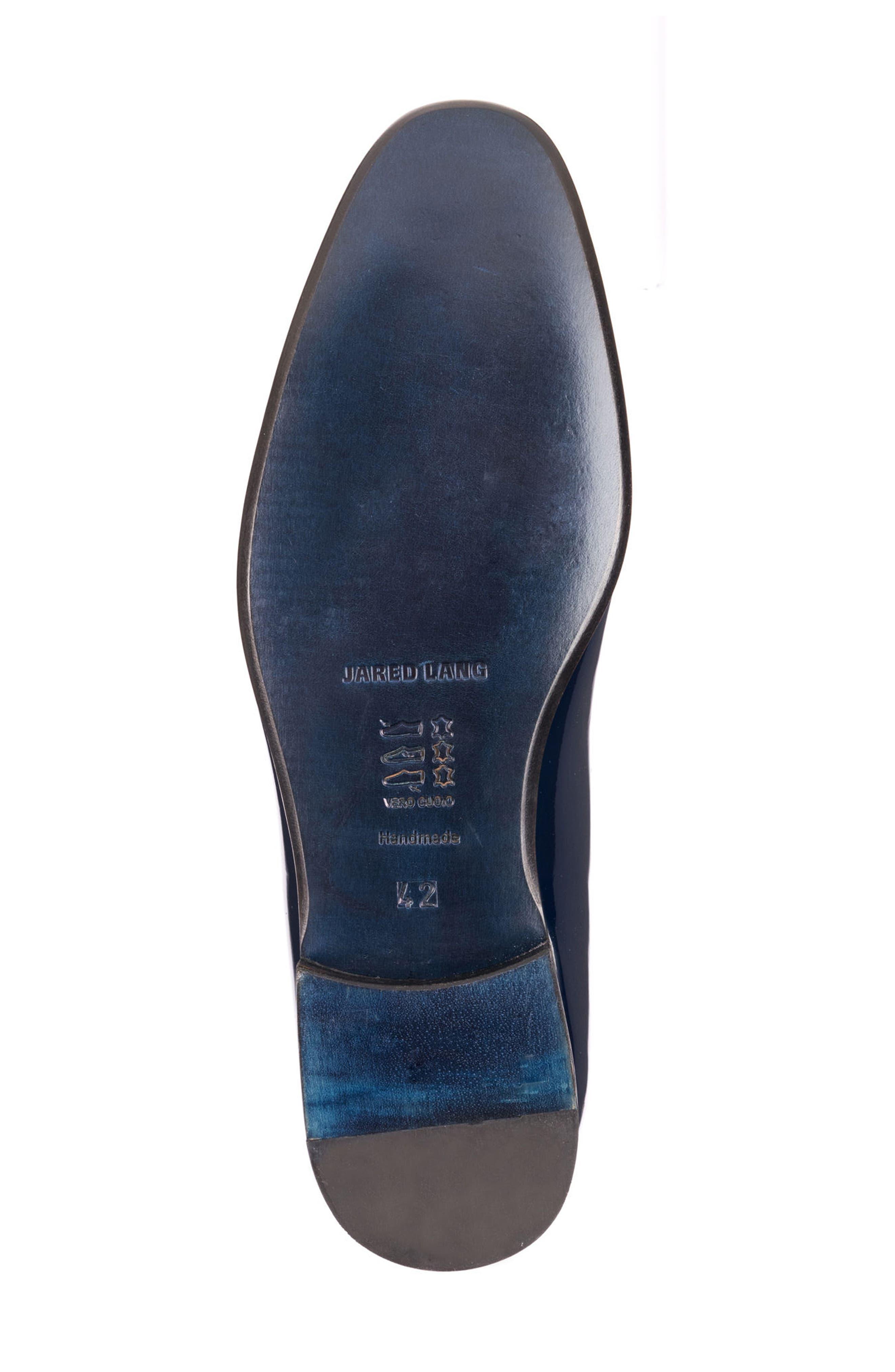 Enzo Tasseled Venetian Loafer,                             Alternate thumbnail 6, color,                             Navy Leather
