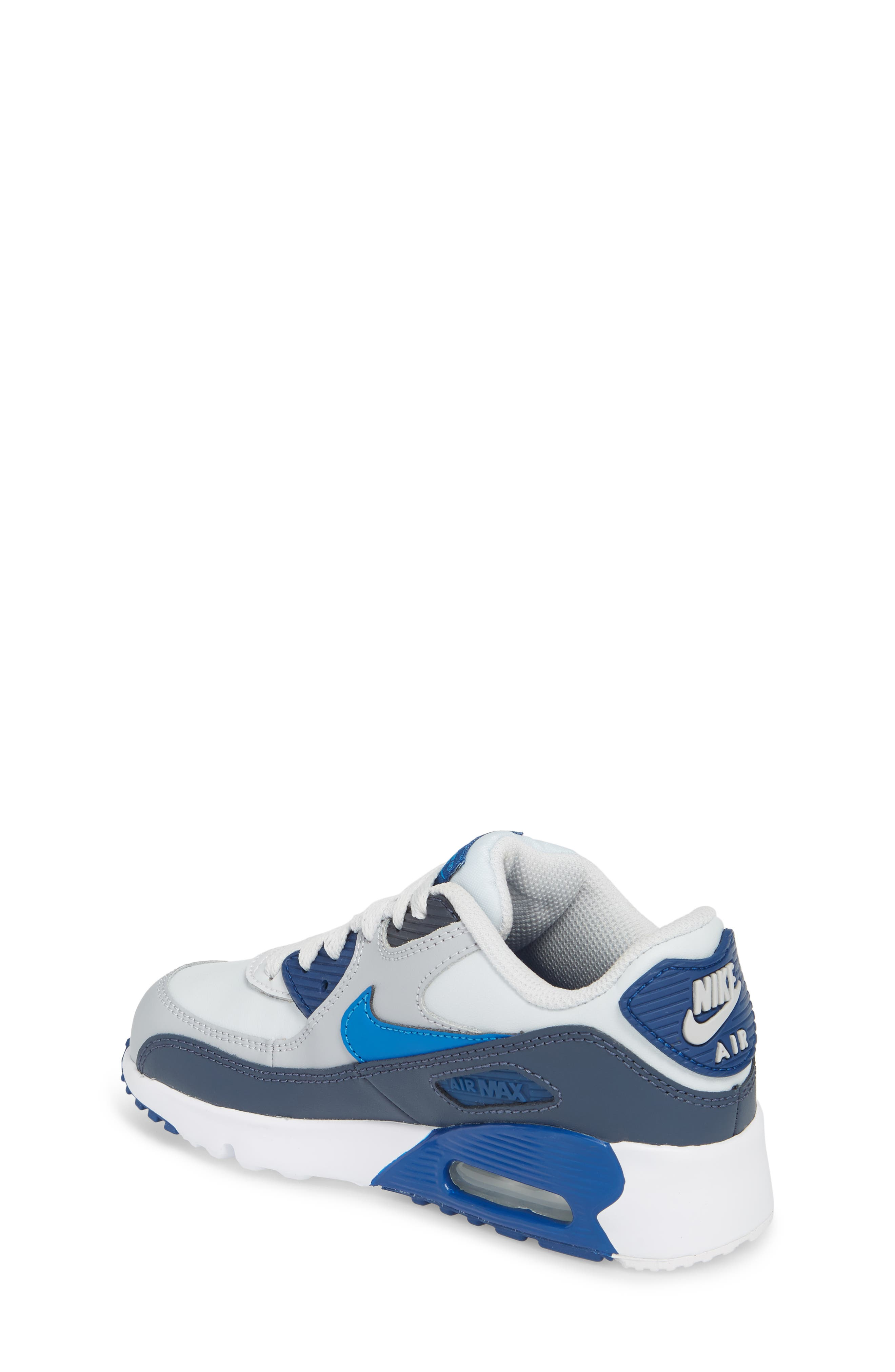 Air Max 90 Sneaker,                             Alternate thumbnail 2, color,                             Blue Nebula/ Wolf Grey