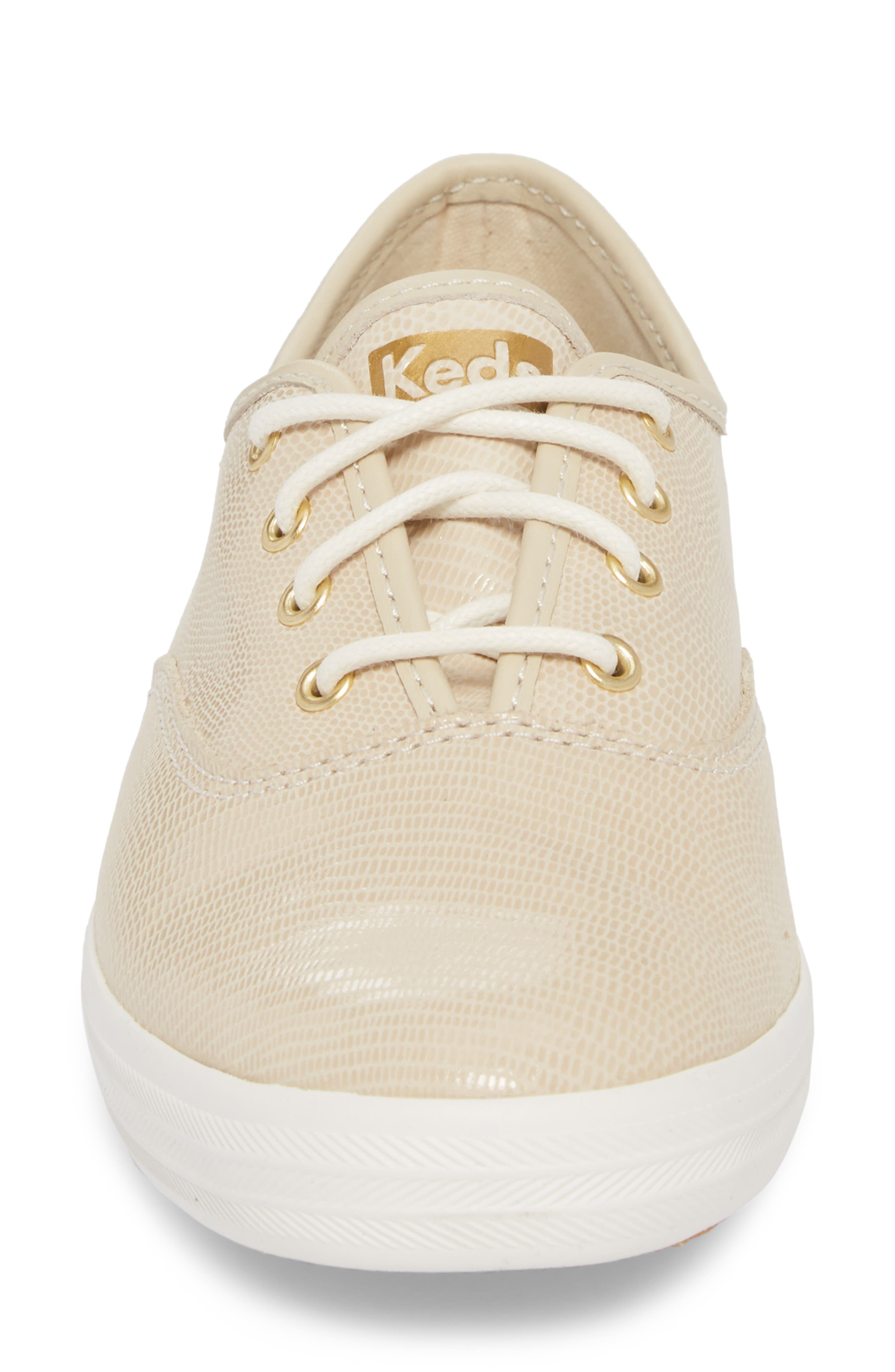 Champion Pretty Leather Sneaker,                             Alternate thumbnail 4, color,                             Ivory