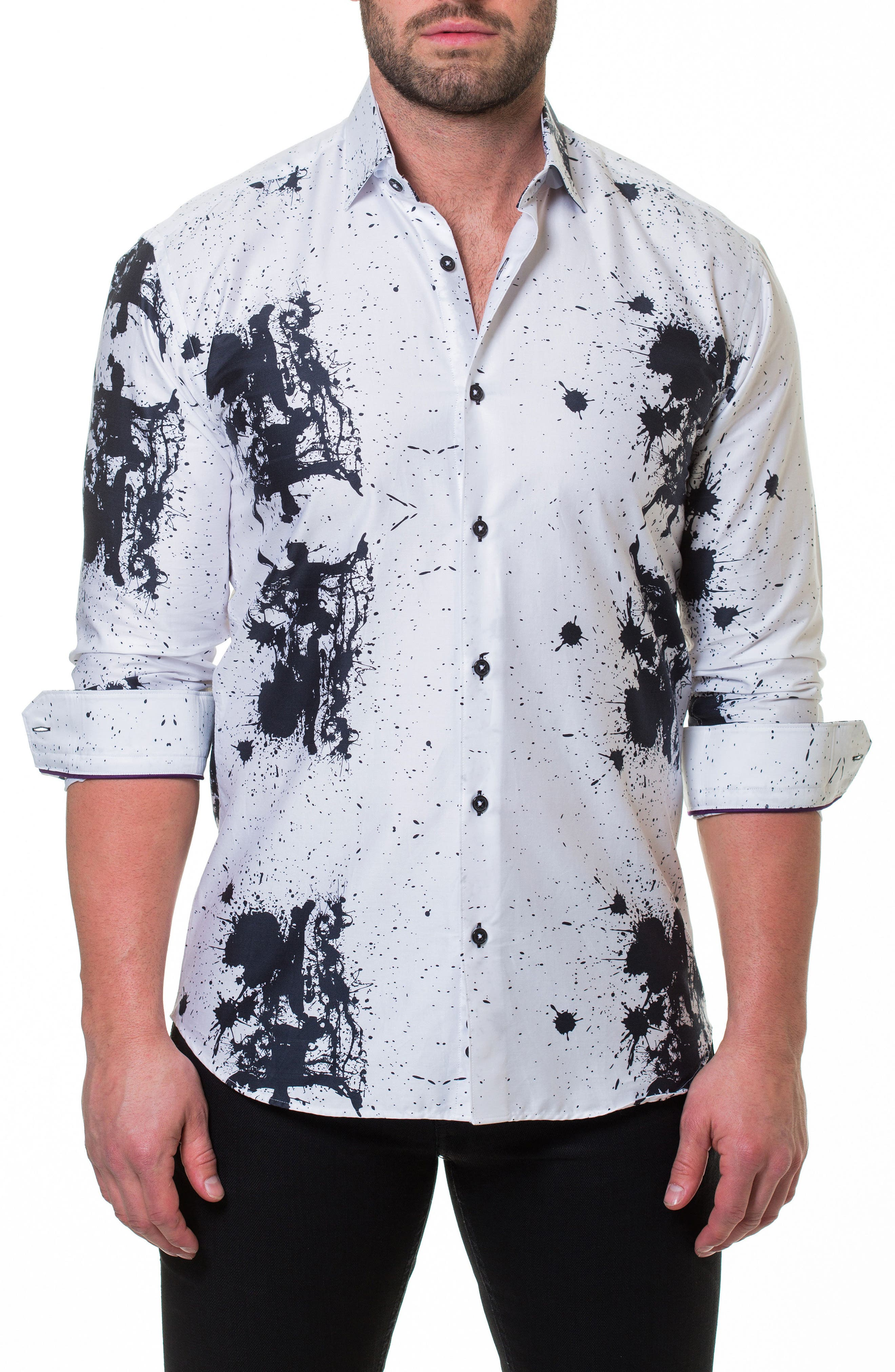 Luxor Accident Slim Fit Sport Shirt,                             Main thumbnail 1, color,                             White