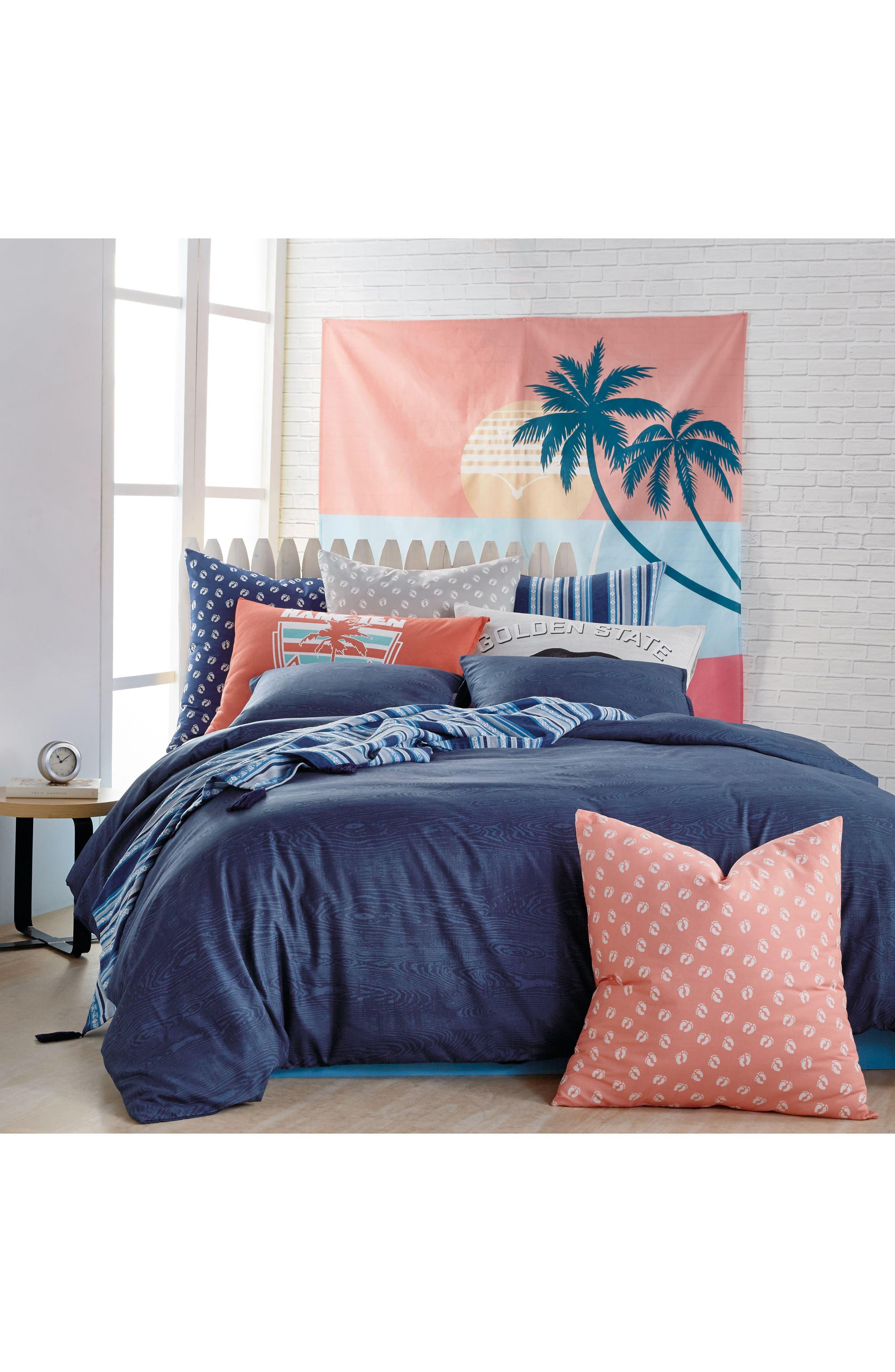 Woodgrain Comforter & Sham Set,                             Main thumbnail 1, color,                             Navy