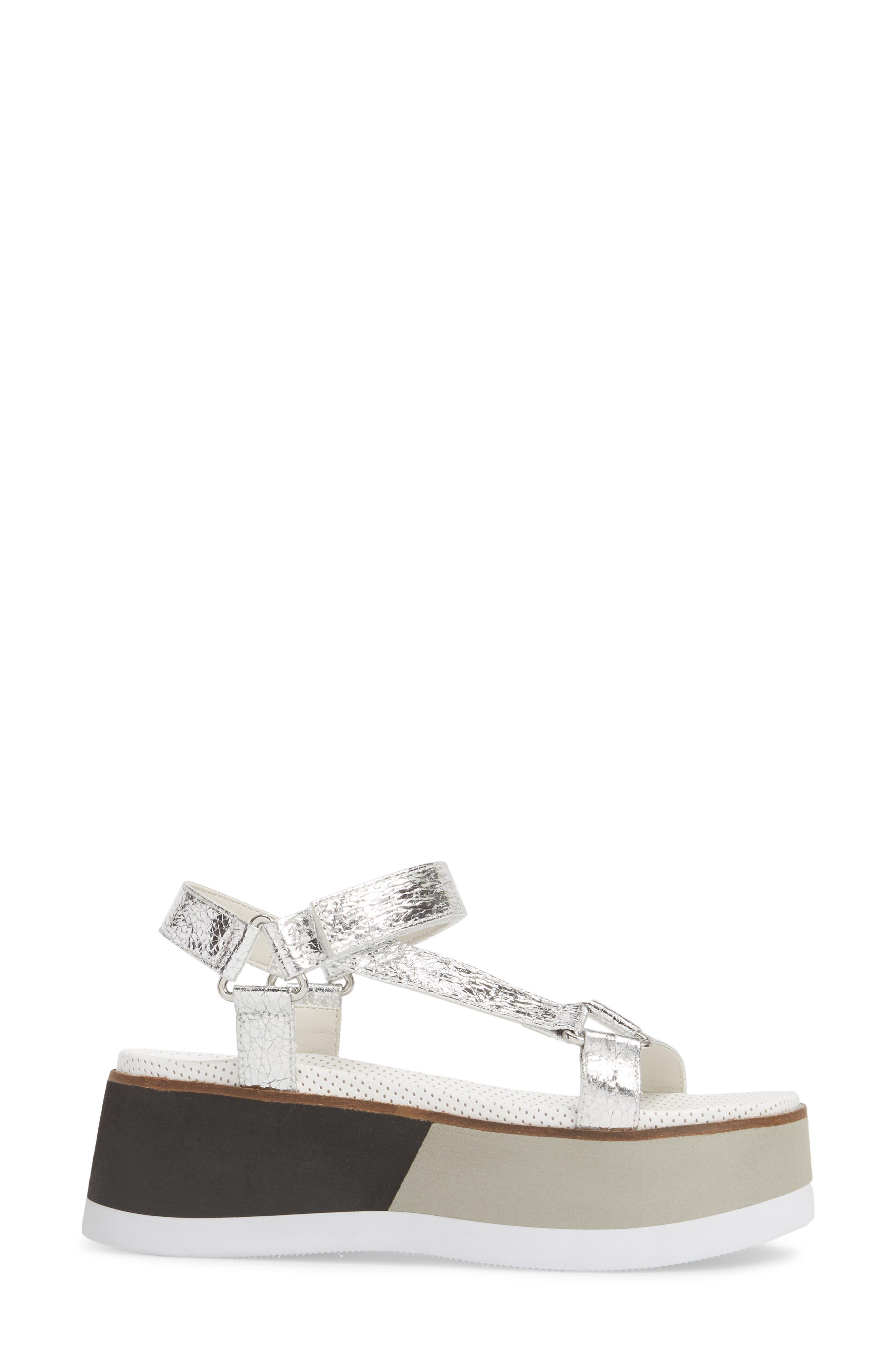 Jayden Platform Sport Sandal,                             Alternate thumbnail 3, color,                             Silver