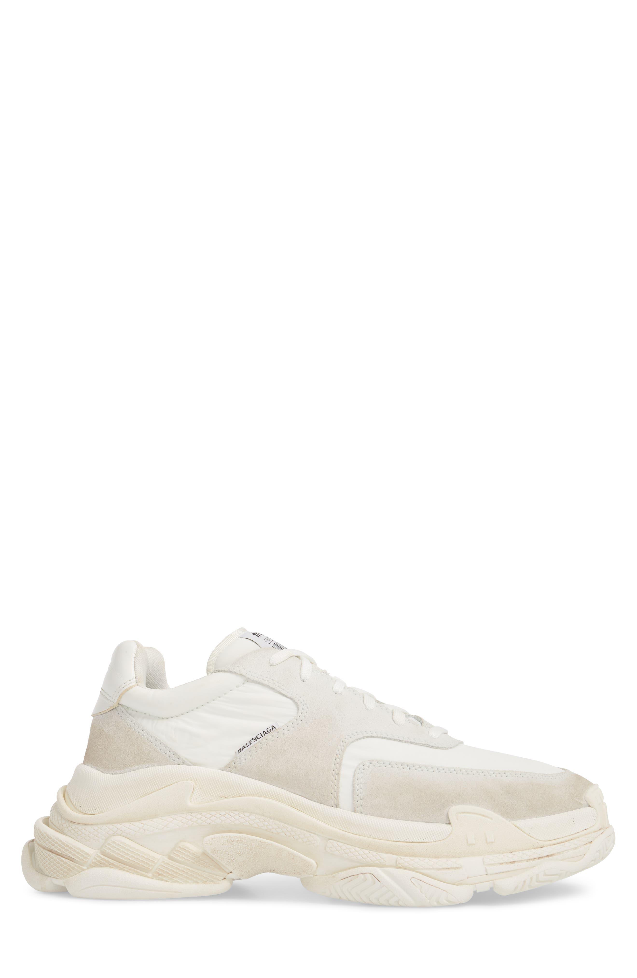 Triple S Retro Sneaker,                             Alternate thumbnail 3, color,                             Blanc White