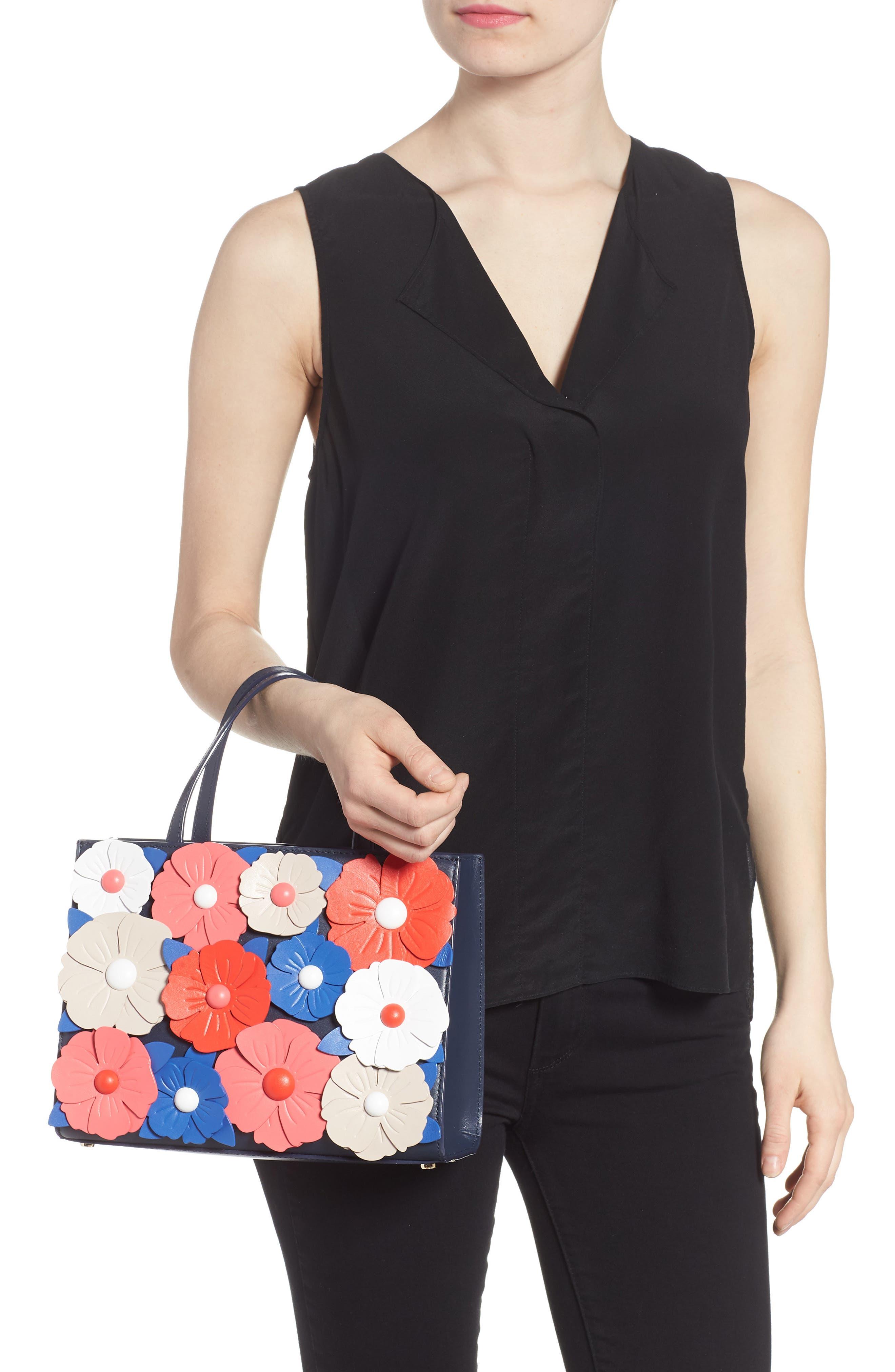 madison daisy lane – sam leather handbag,                             Alternate thumbnail 2, color,                             Blazer Blue Multi