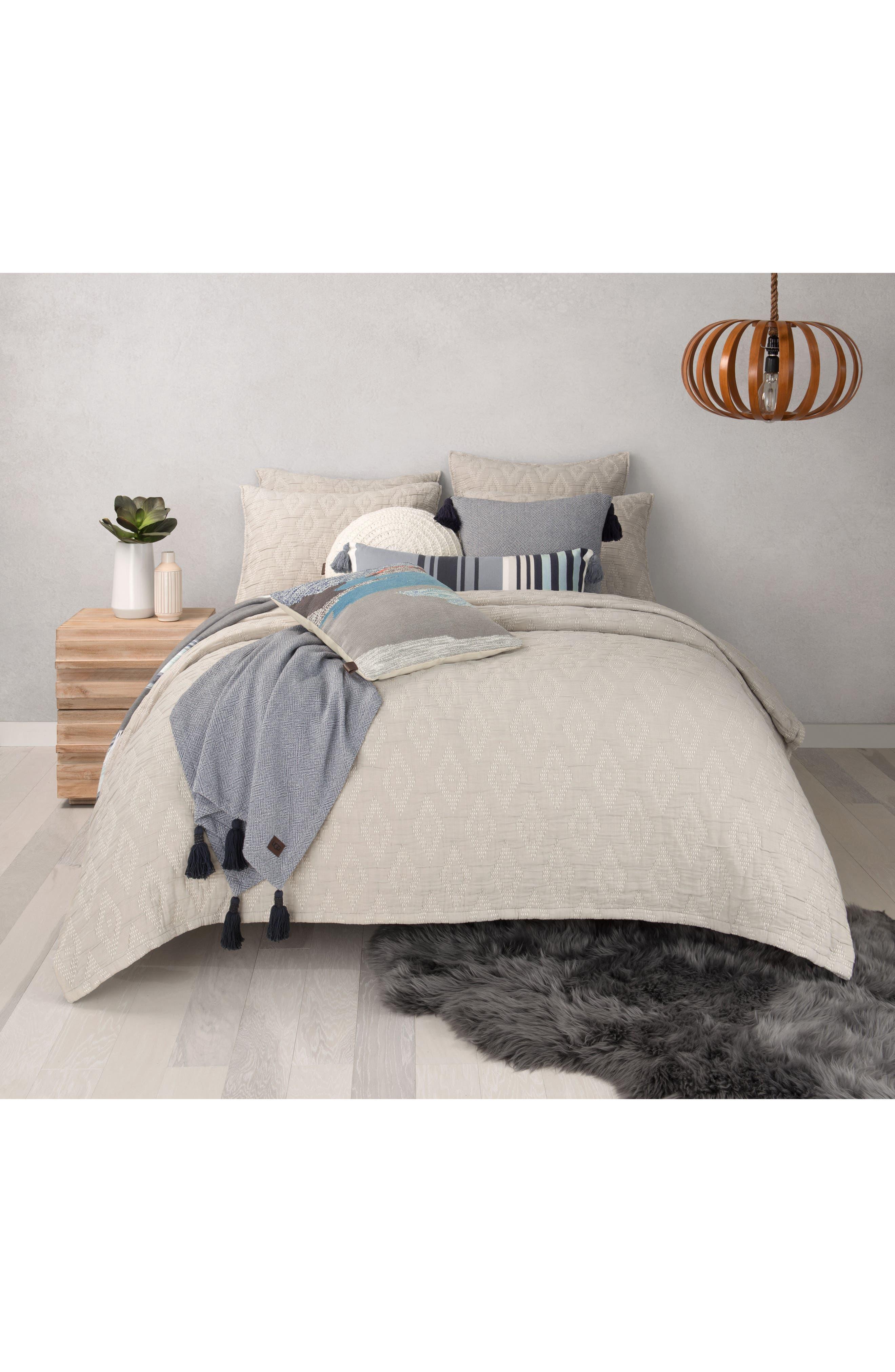 Round Crochet Accent Pillow,                             Alternate thumbnail 6, color,                             Snow