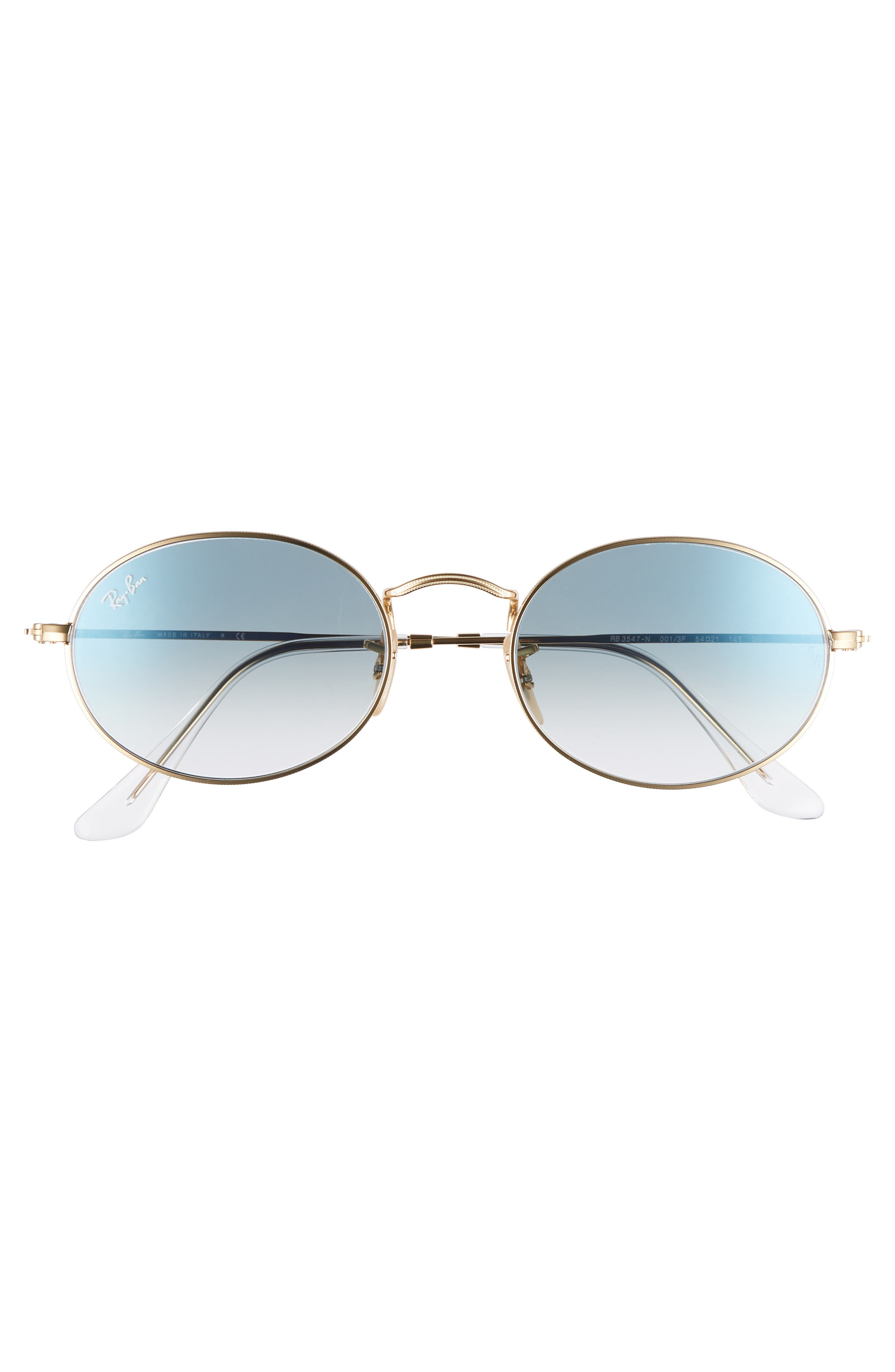 54mm Oval Sunglasses,                             Alternate thumbnail 3, color,                             Gold