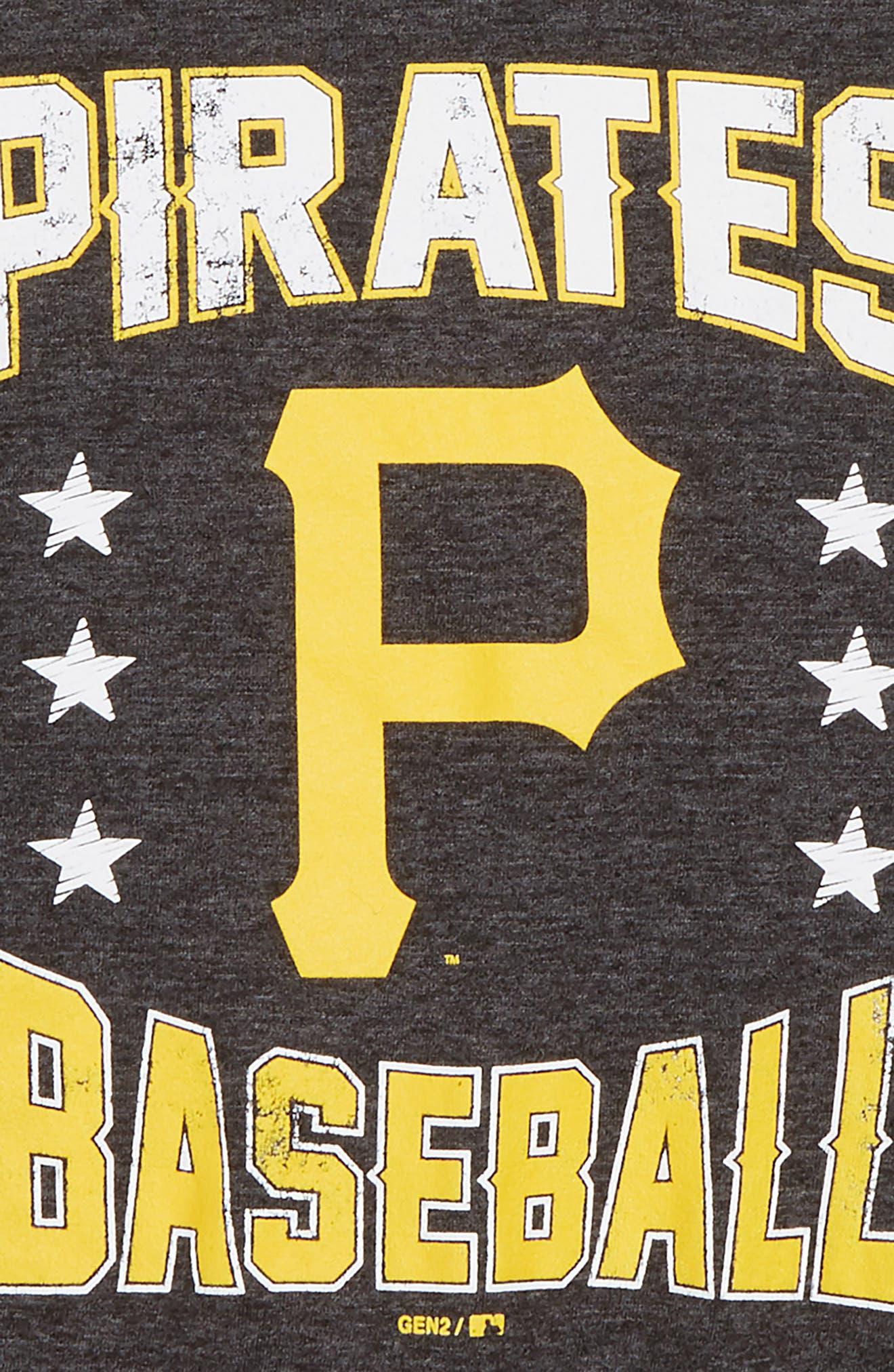 Pittsburgh Pirates Triple Play T-Shirt,                             Alternate thumbnail 2, color,                             Black