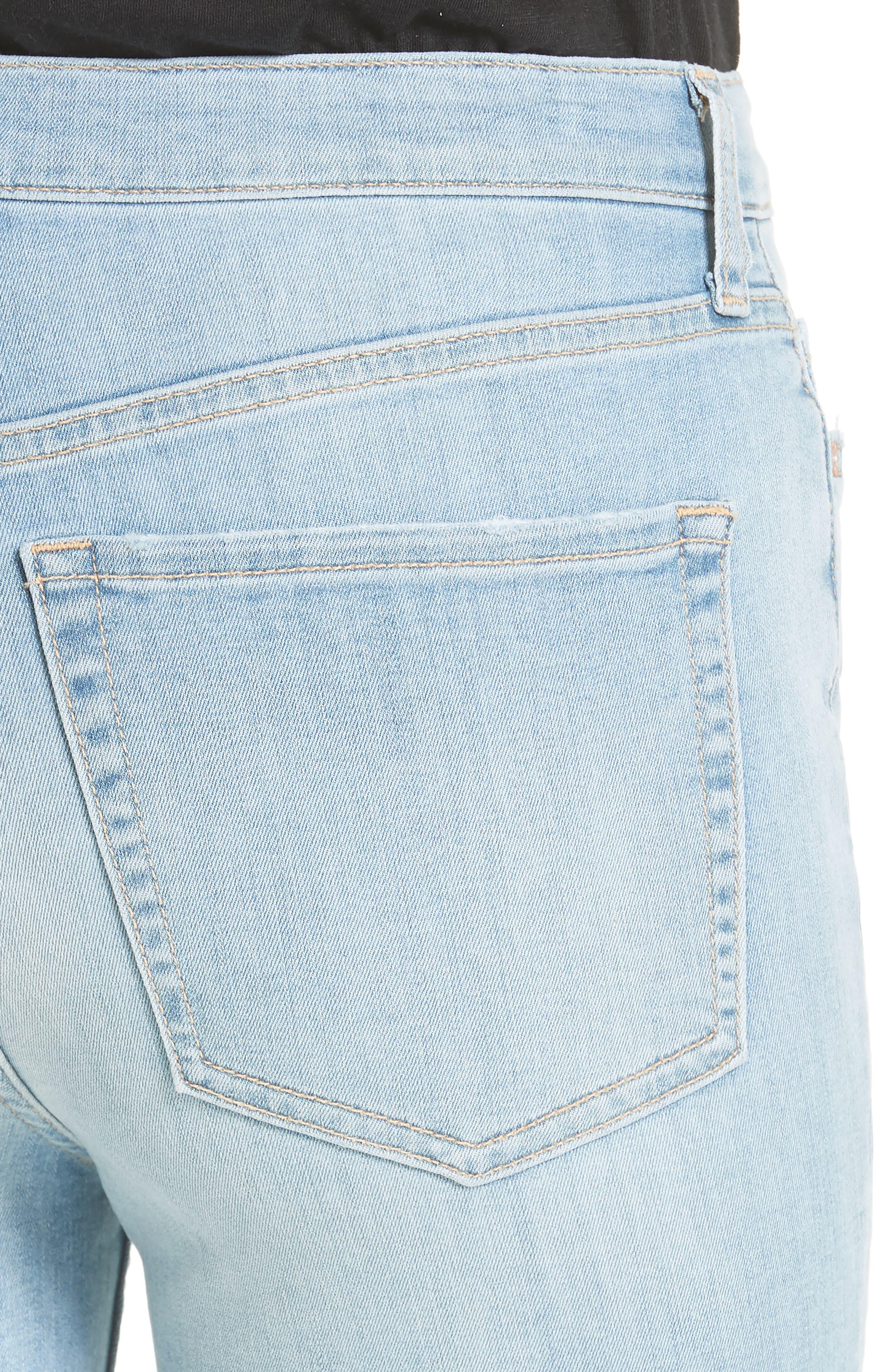 High Waist Ankle Skinny Jeans,                             Alternate thumbnail 4, color,                             Sky