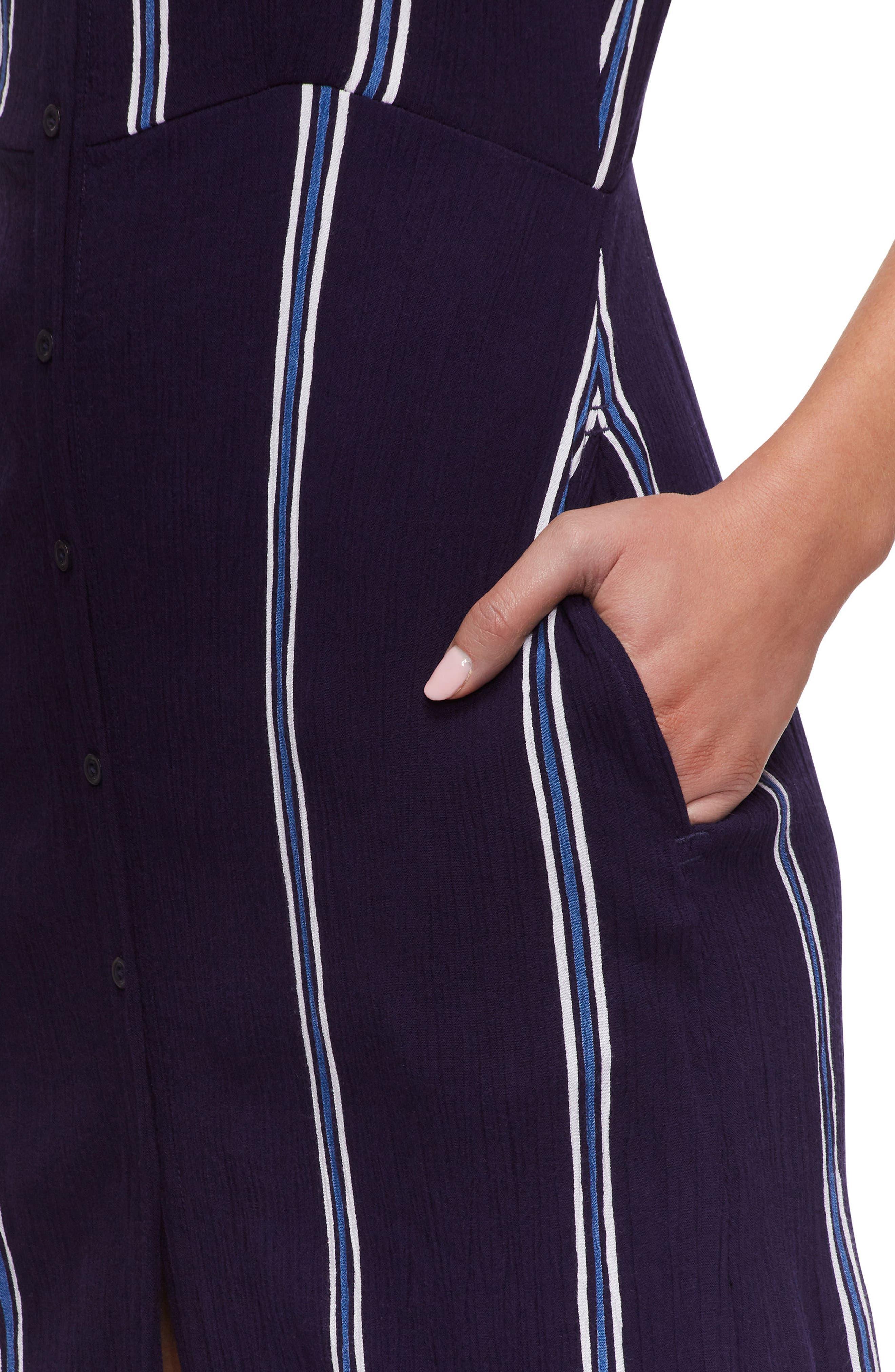 Geni Cover-Up Dress,                             Alternate thumbnail 4, color,                             Evening Blue/White Stripe