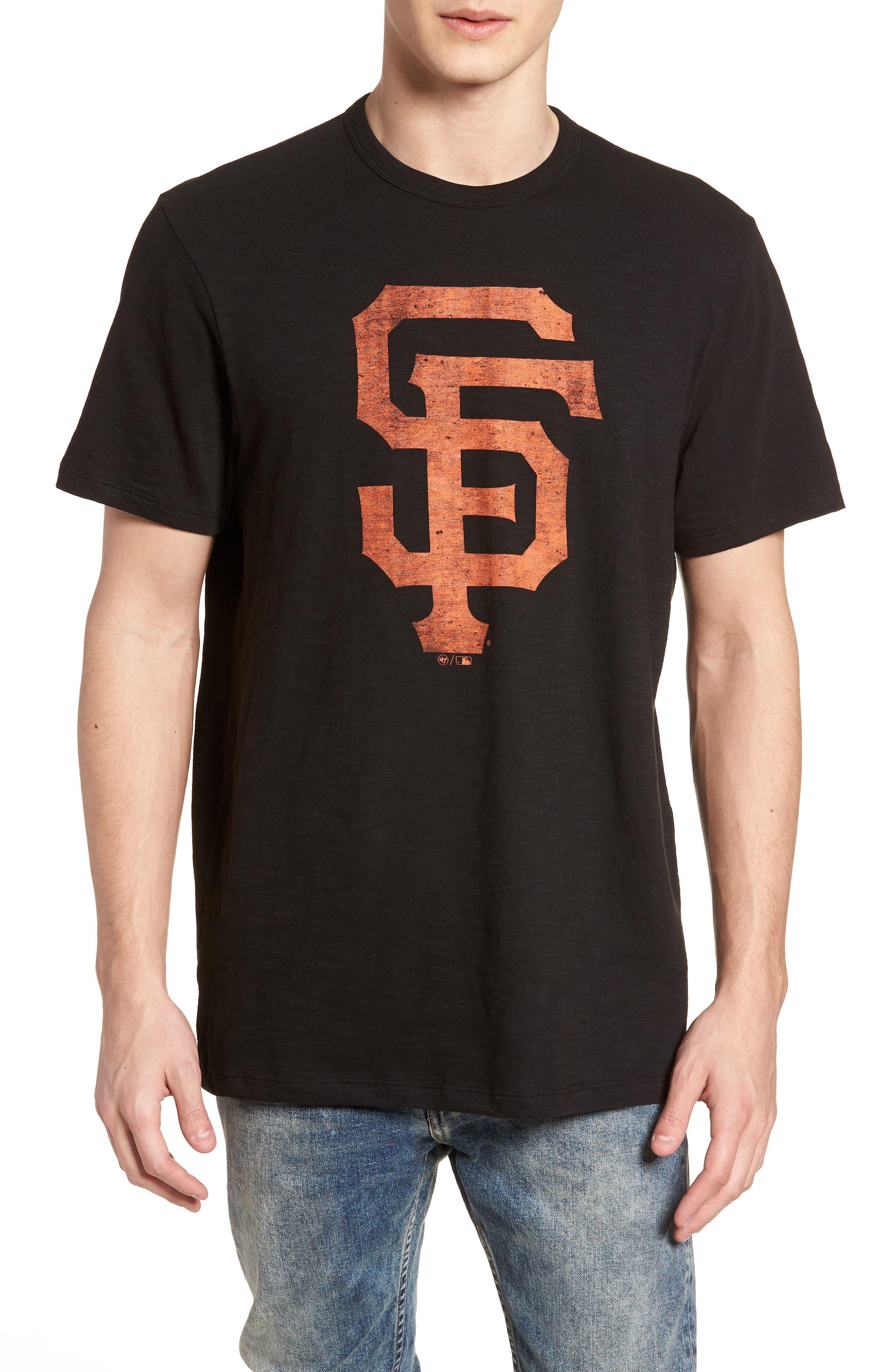 Grit Scrum San Francisco Giants T-Shirt,                             Main thumbnail 1, color,                             Jet Black