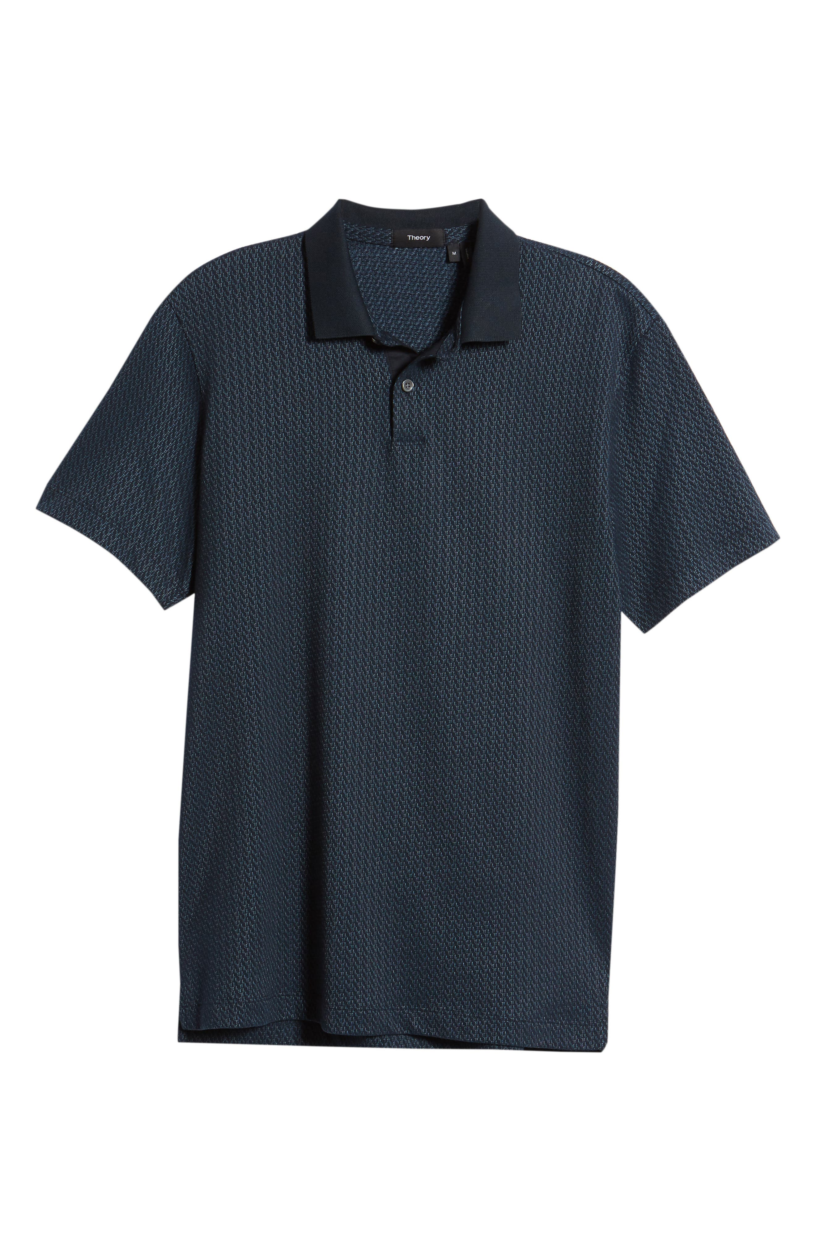Bayliss Slim Fit Polo,                             Alternate thumbnail 6, color,                             Eclipse/ Hydro