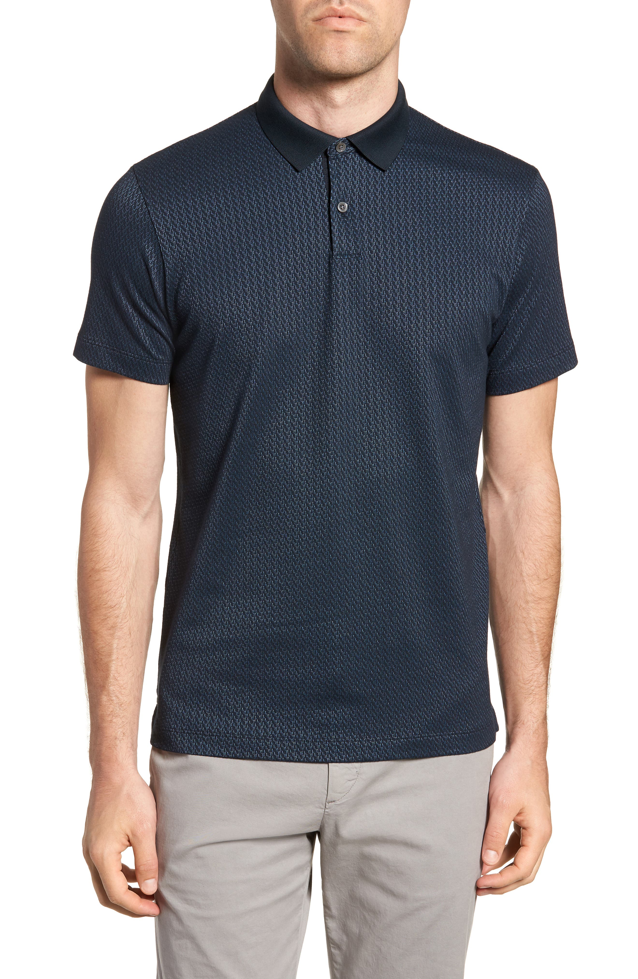 Bayliss Slim Fit Polo,                             Main thumbnail 1, color,                             Eclipse/ Hydro