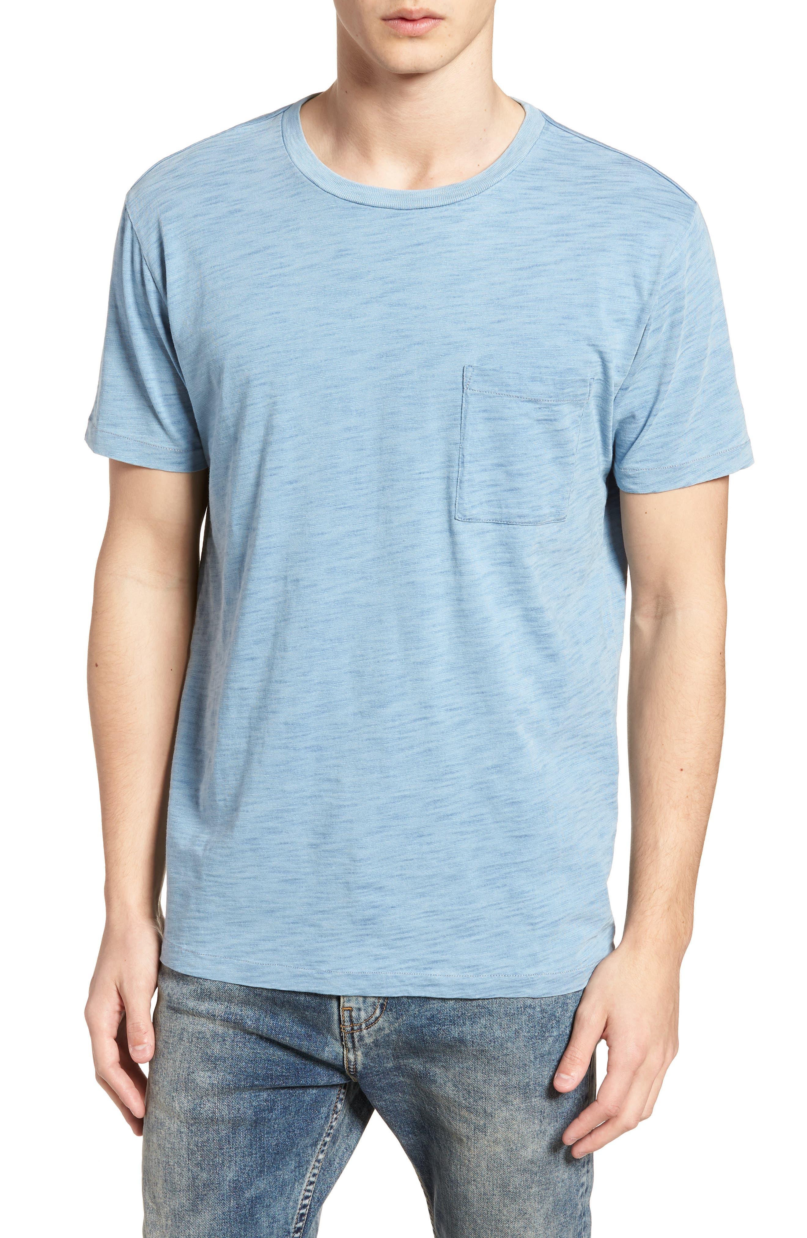 Pocket T-Shirt,                         Main,                         color, Washed Indigo