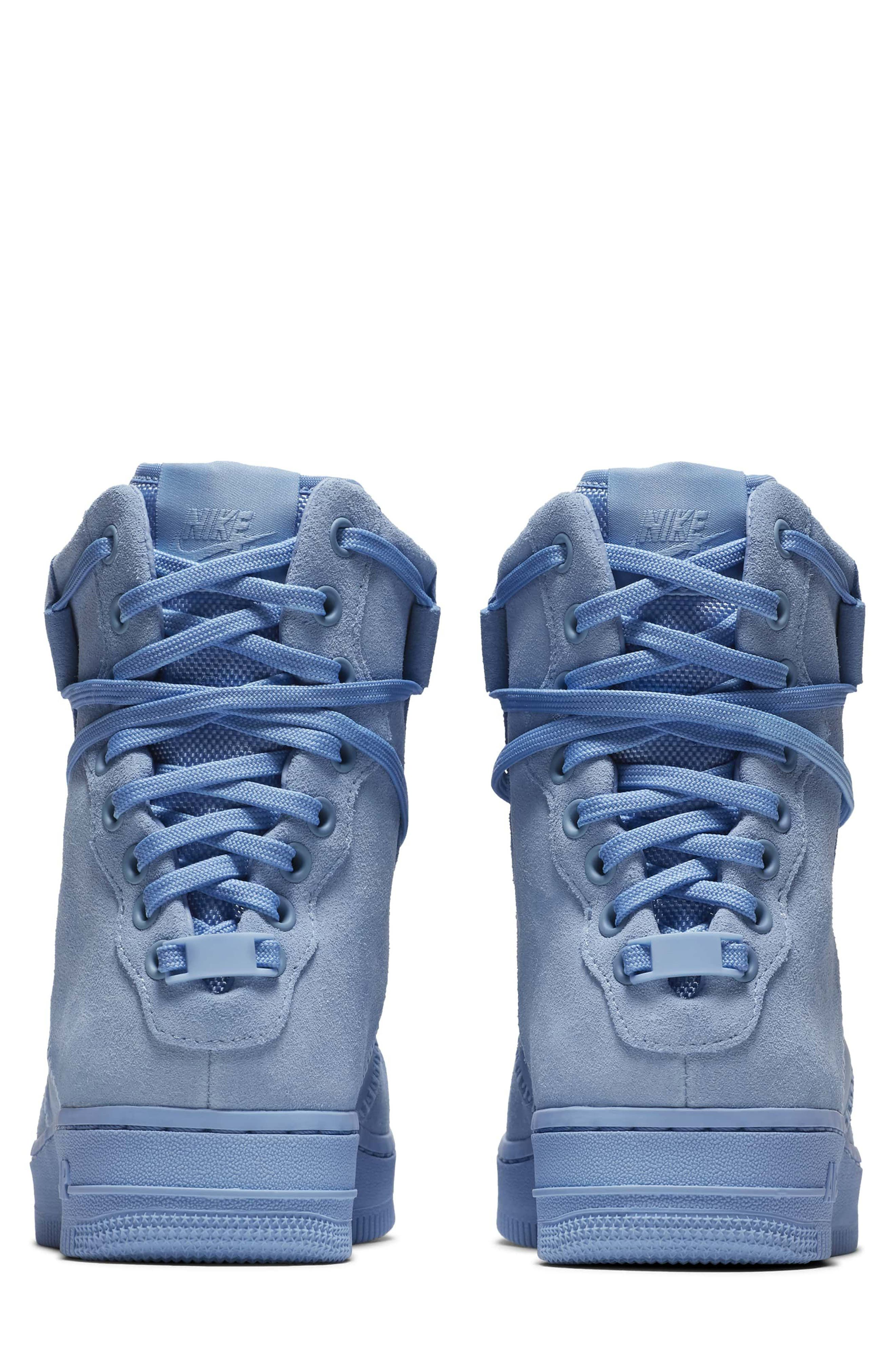 Air Force 1 Rebel XX High Top Sneaker,                             Alternate thumbnail 2, color,                             Light Blue