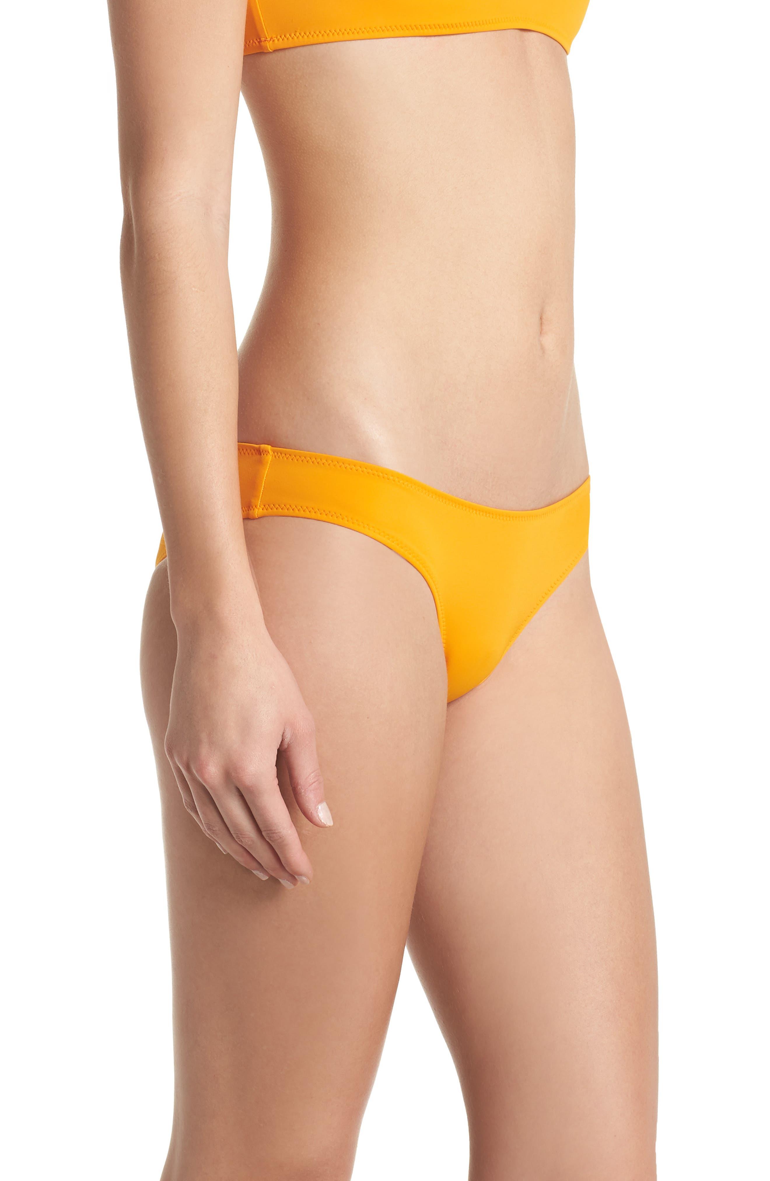 Elle Bikini Bottoms,                             Alternate thumbnail 5, color,                             Orange