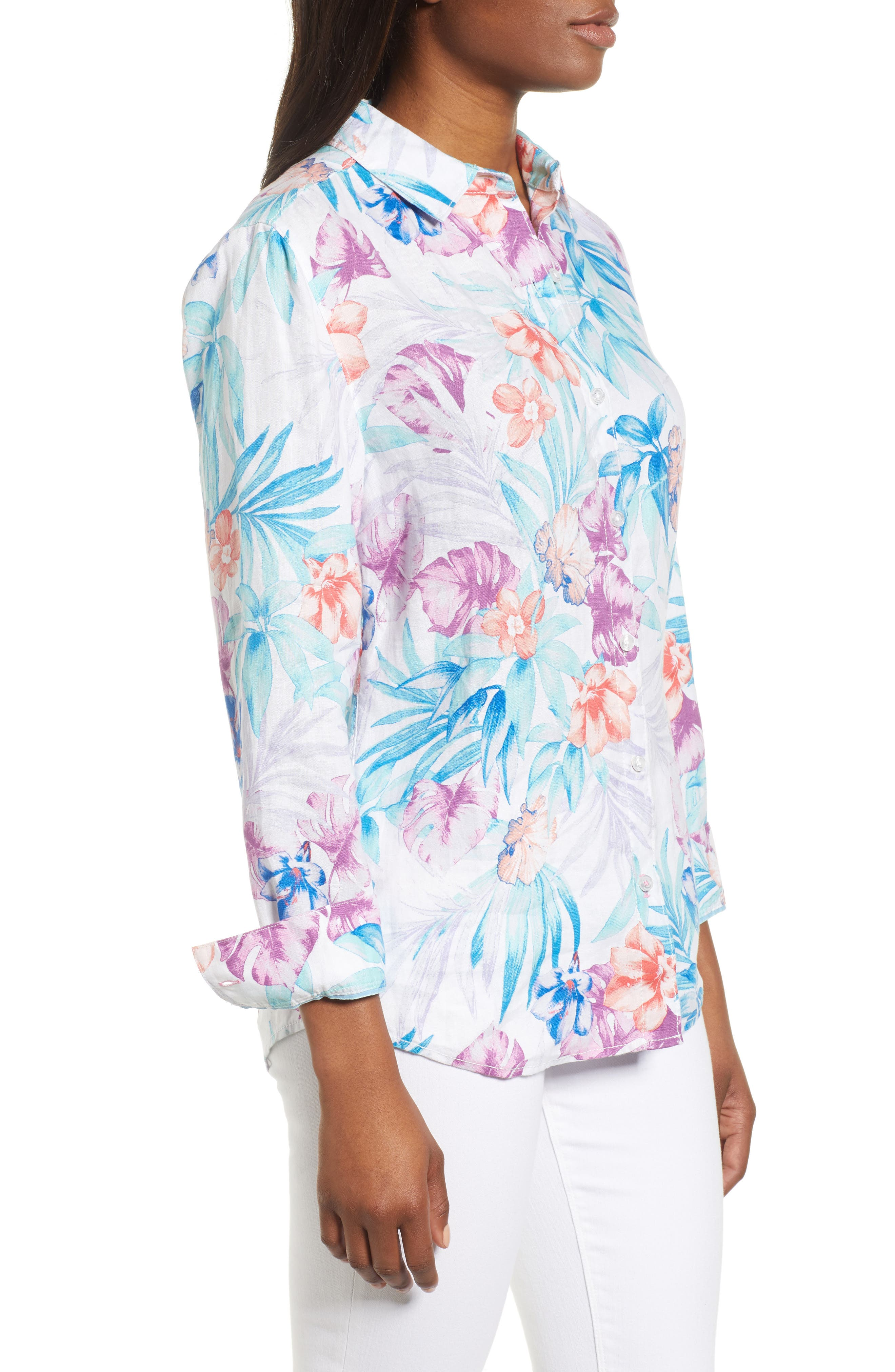 Valentina Villa Shirt,                             Alternate thumbnail 3, color,                             White