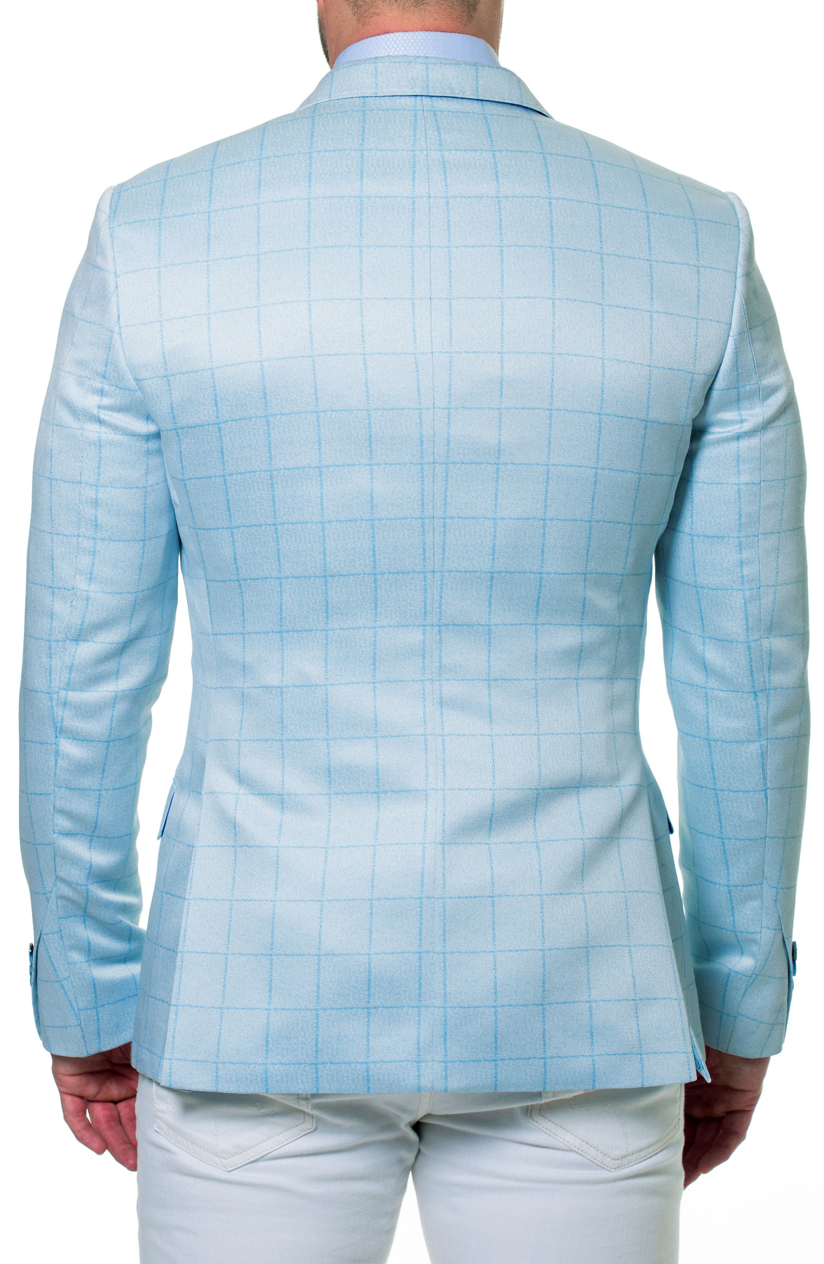 Elegance Check Windowpane Sport Coat,                             Alternate thumbnail 3, color,                             Blue