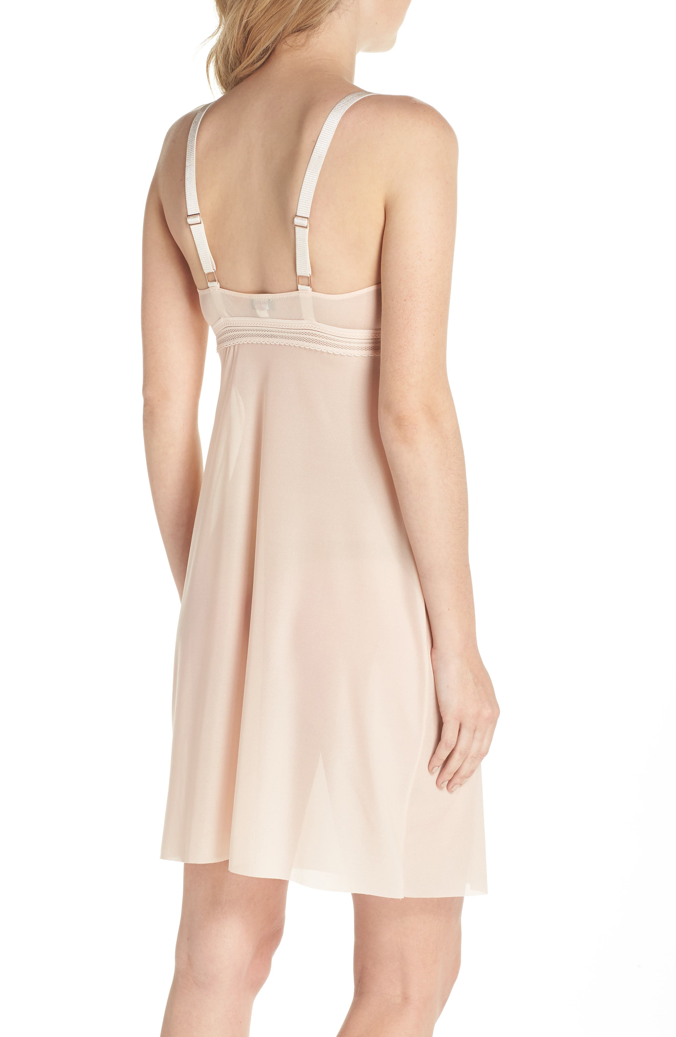 Laced In Aire Chemise,                             Alternate thumbnail 2, color,                             Nude Rose
