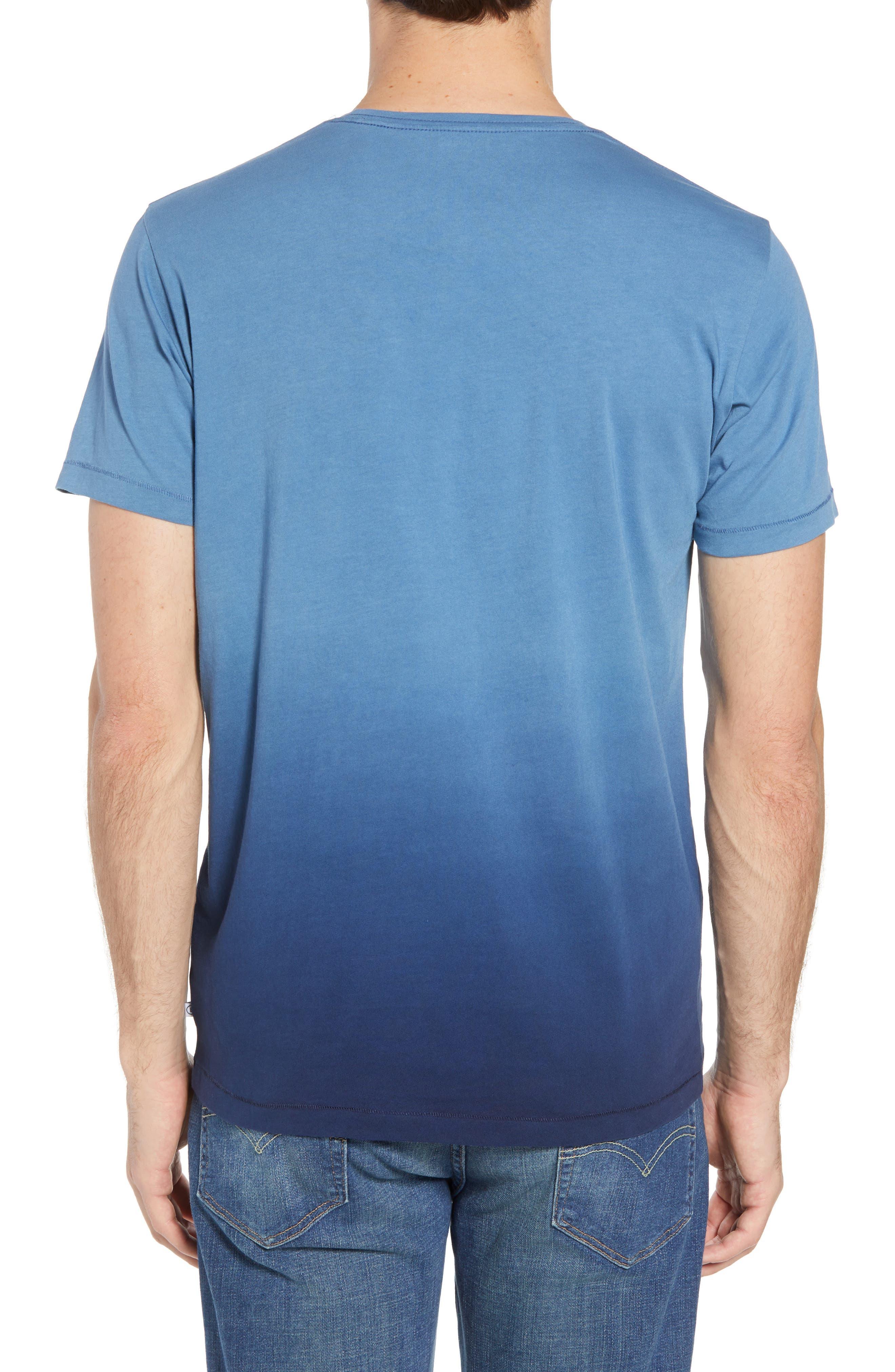 Dip Dye T-Shirt,                             Alternate thumbnail 2, color,                             Navy Ombre