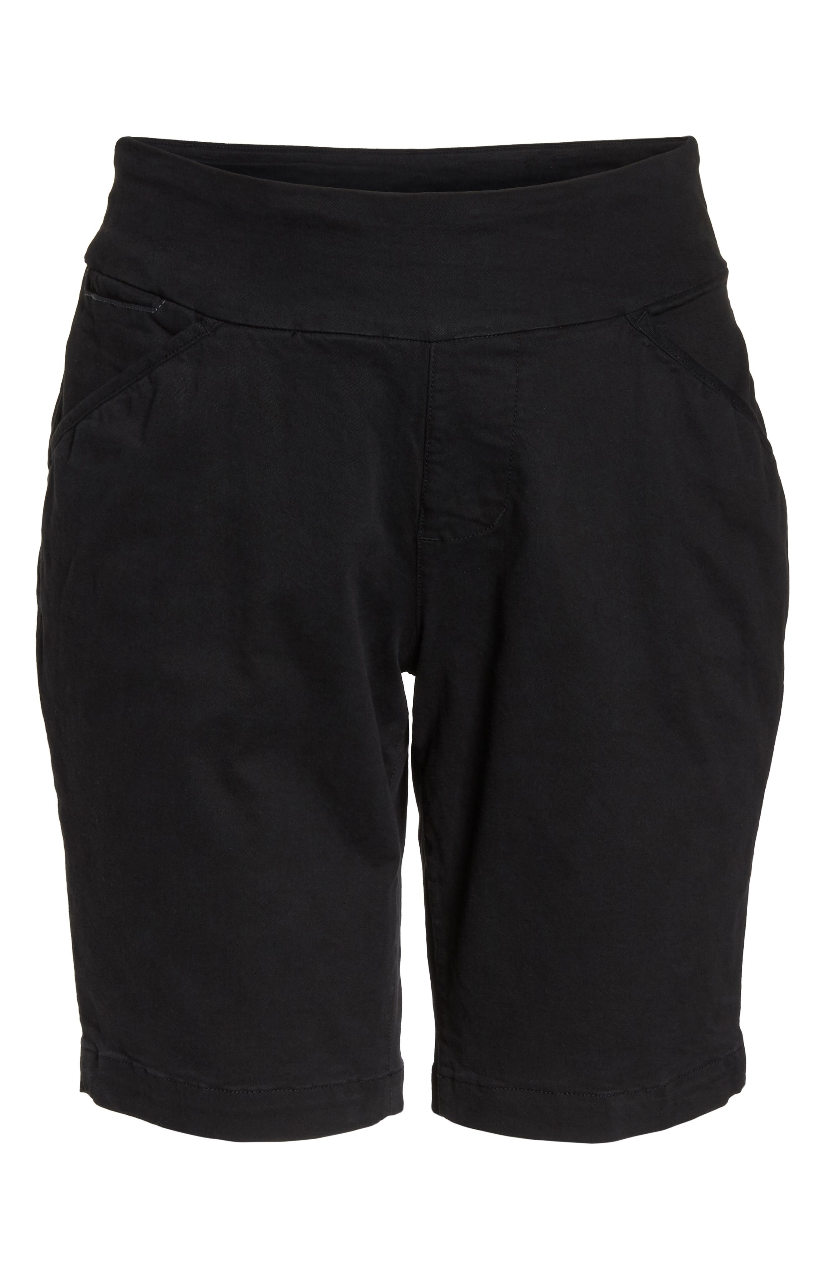 Ainsley Pull-On Bermuda Shorts,                             Alternate thumbnail 7, color,                             Black