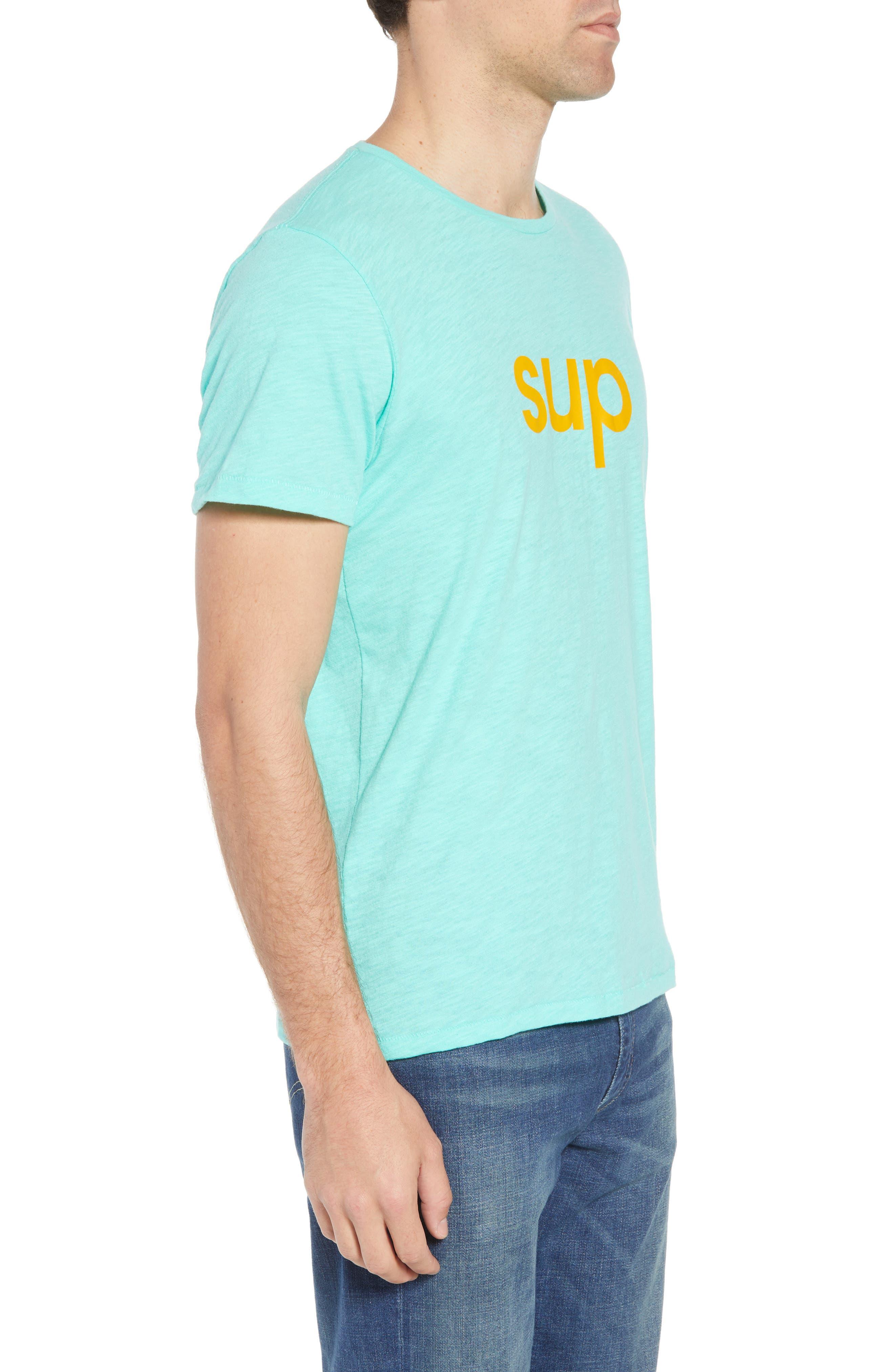 Sup Slub T-Shirt,                             Alternate thumbnail 3, color,                             Sup Bermuda Green