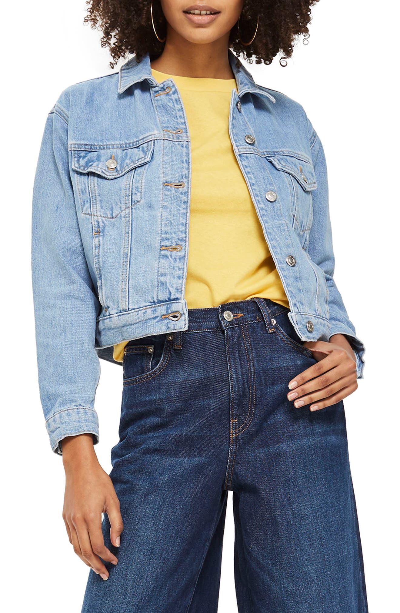 Matilda Western Jacket,                         Main,                         color, Mid Denim