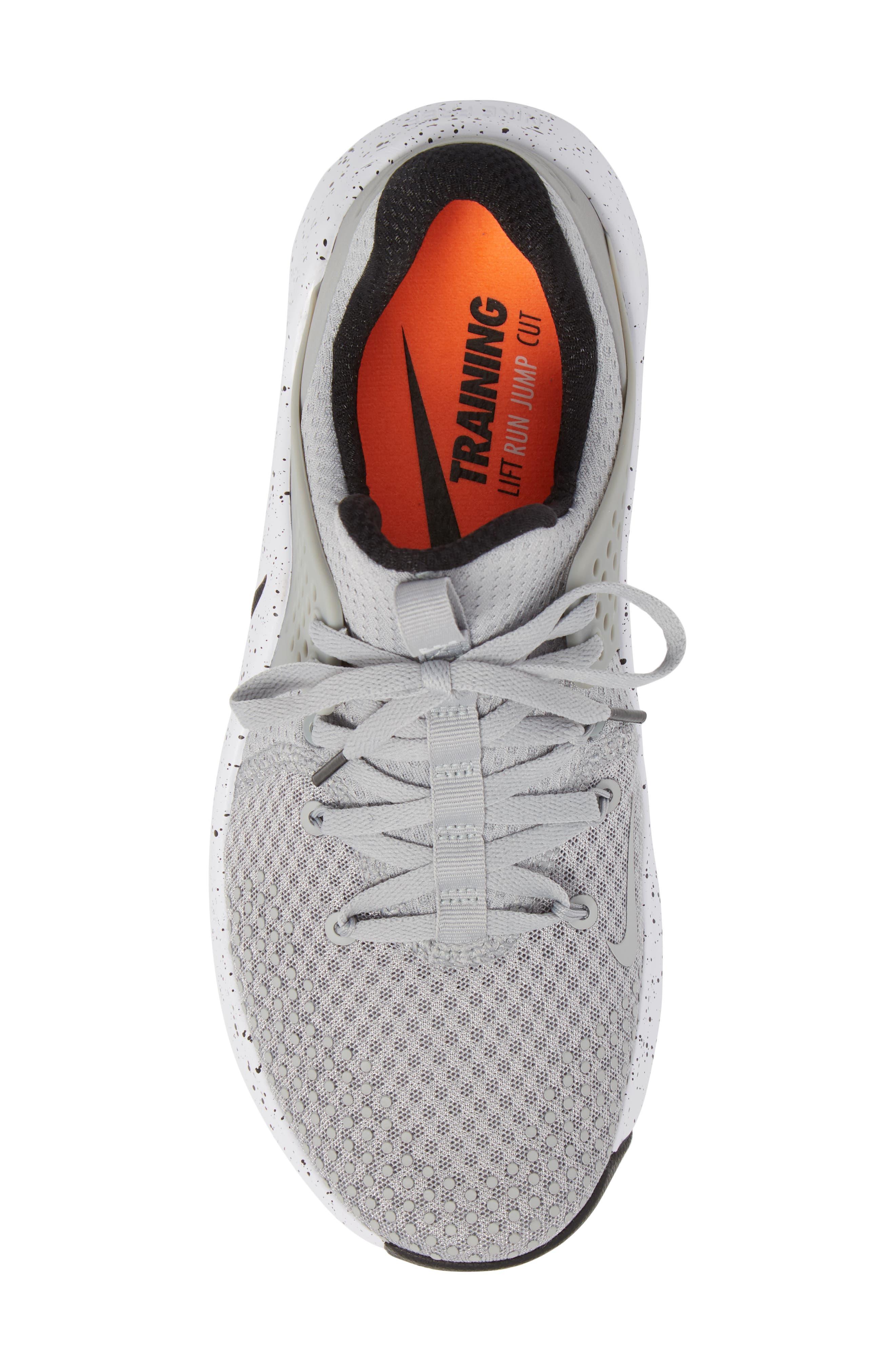Free TR V8 Training Shoe,                             Alternate thumbnail 5, color,                             Matte Silver/ Black