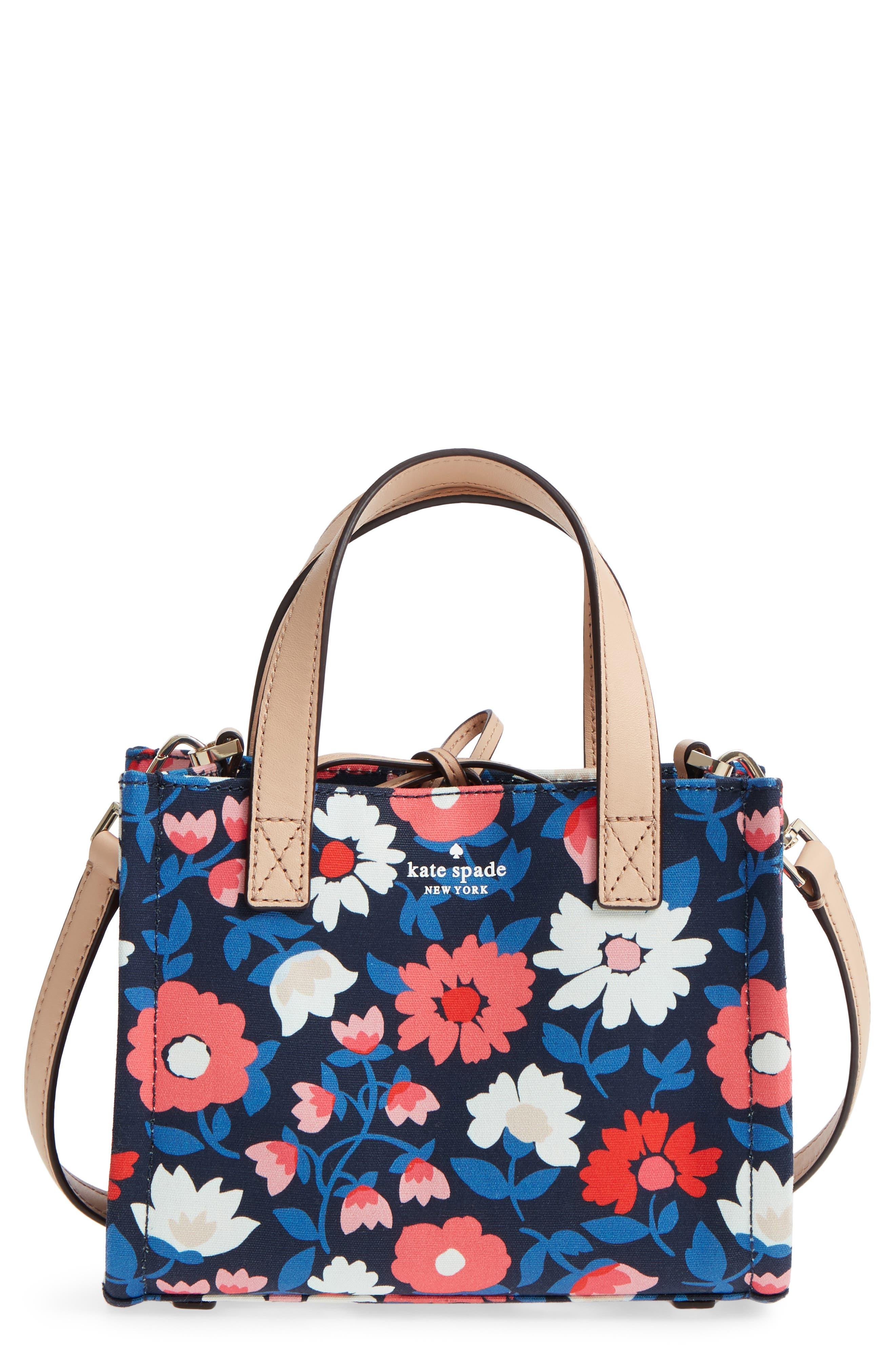 washington square - small sam canvas satchel,                             Main thumbnail 1, color,                             Rich Navy Multi