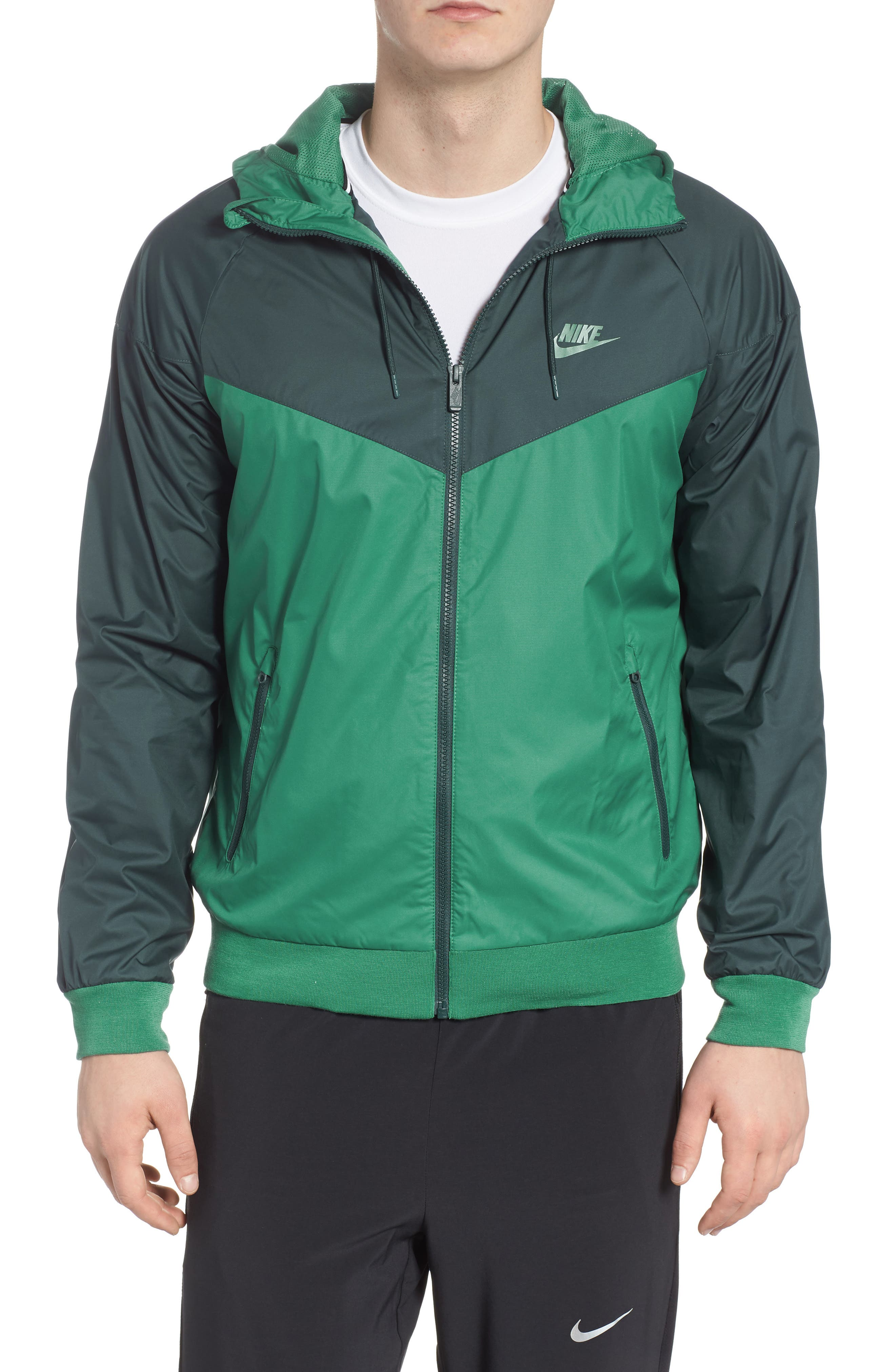 'Windrunner' Colorblock Jacket,                         Main,                         color, Green Noise/ Deep Jungle
