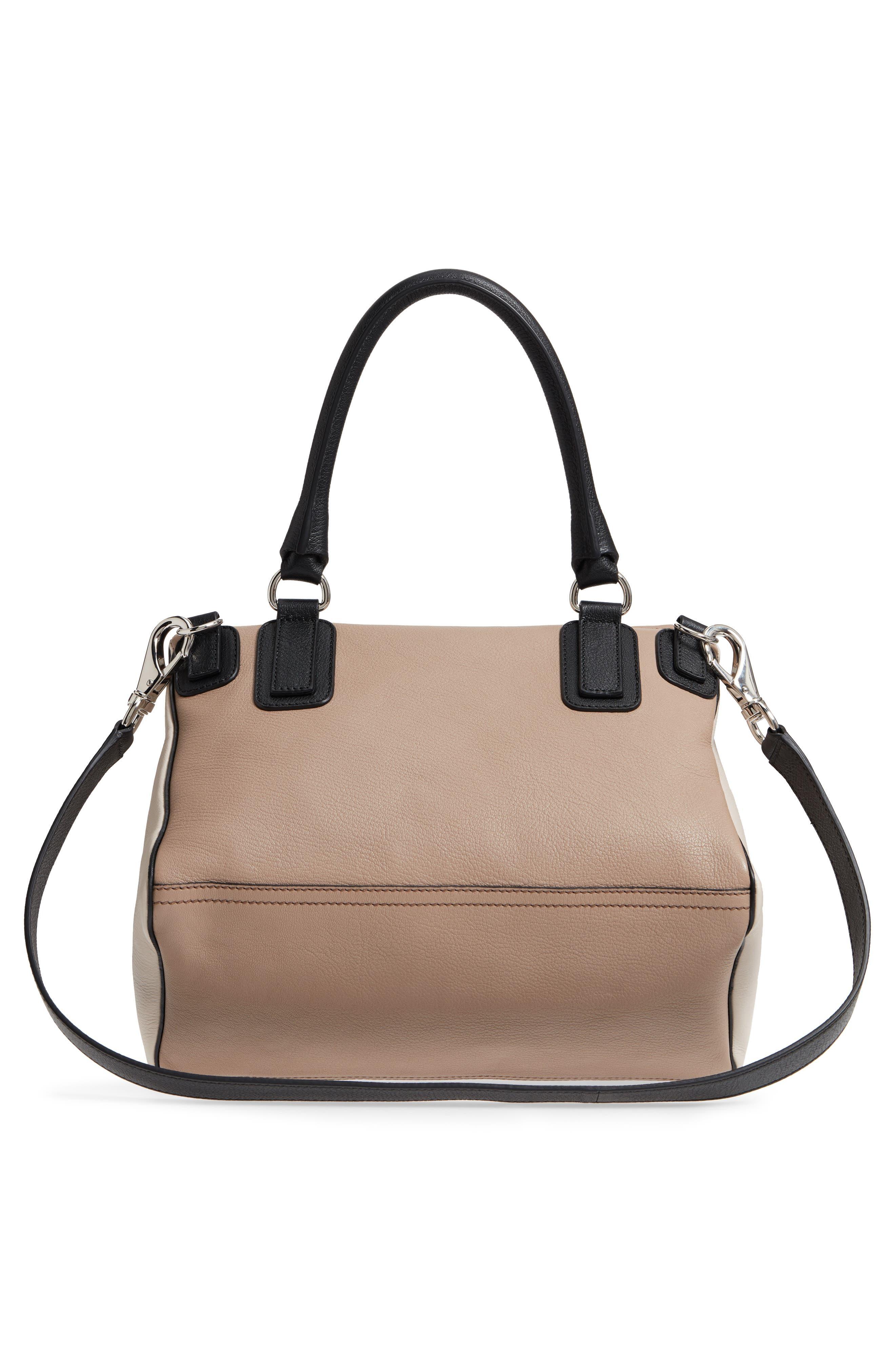 Medium Pandora Box Tricolor Leather Crossbody Bag,                             Alternate thumbnail 3, color,                             Linen