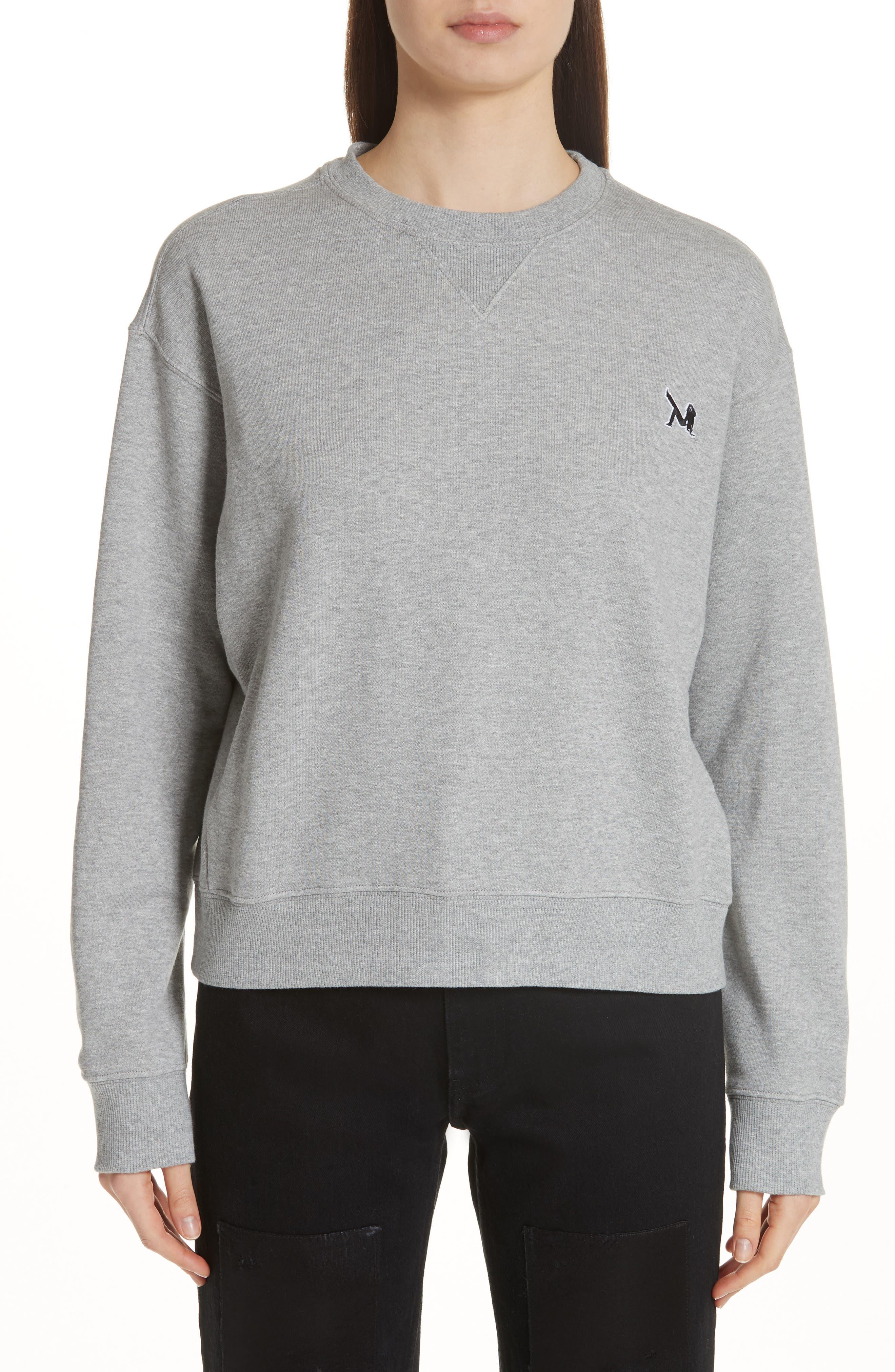 Brooke Shields Patch Sweatshirt,                             Main thumbnail 1, color,                             Grey