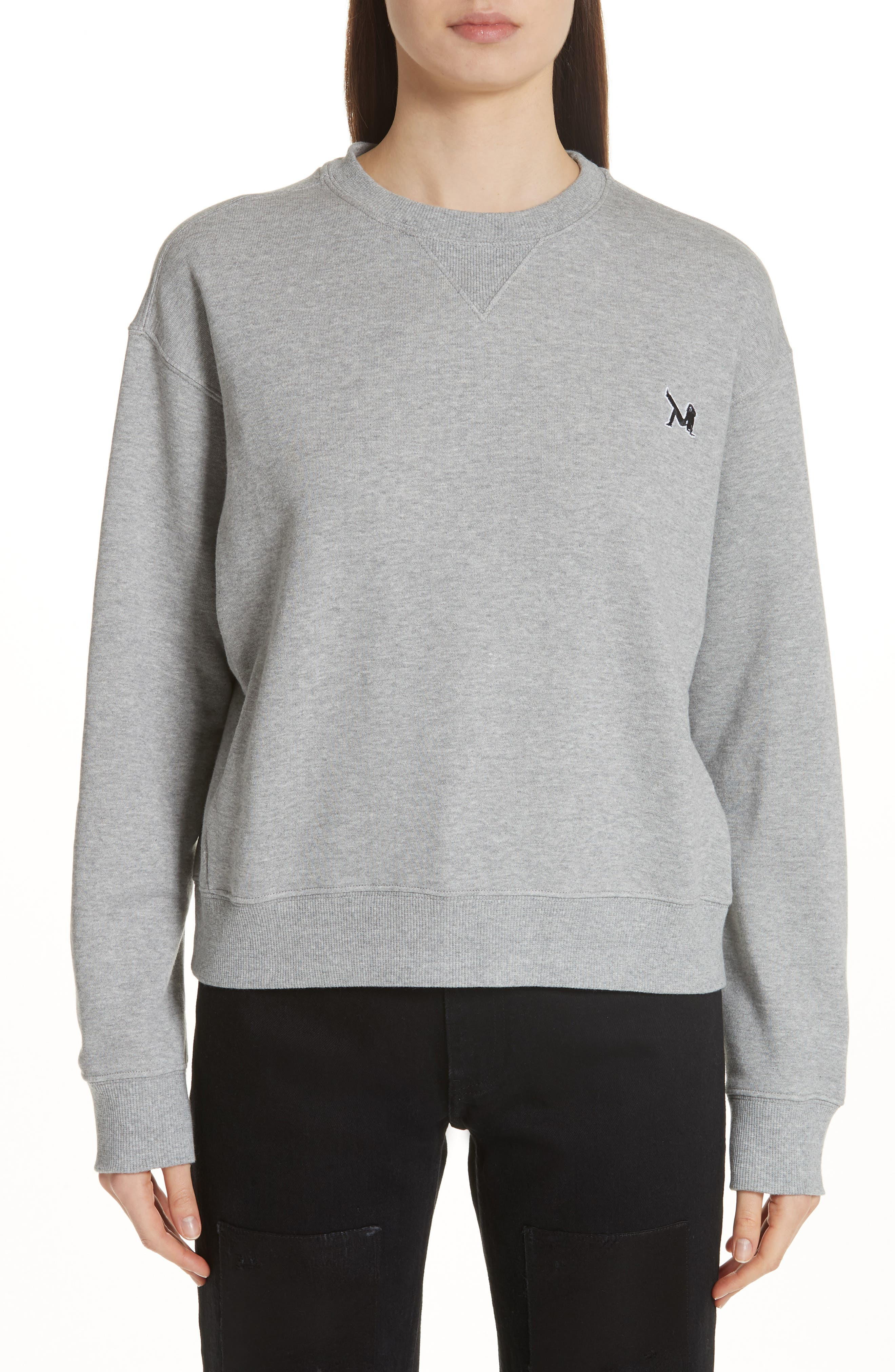 Brooke Shields Patch Sweatshirt,                         Main,                         color, Grey