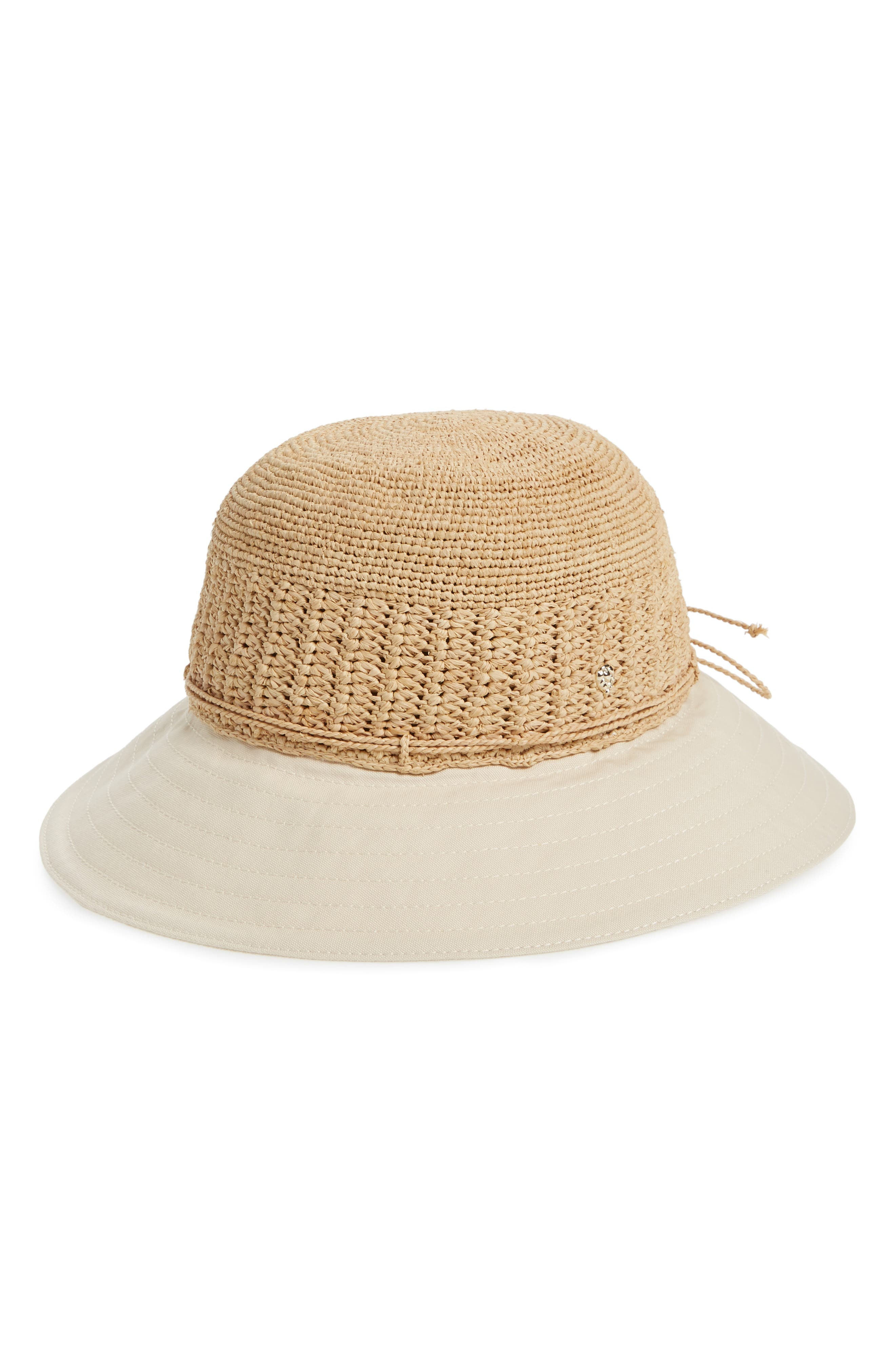 Cotton Brim Raffia Hat,                             Main thumbnail 1, color,                             Natural/ Shell