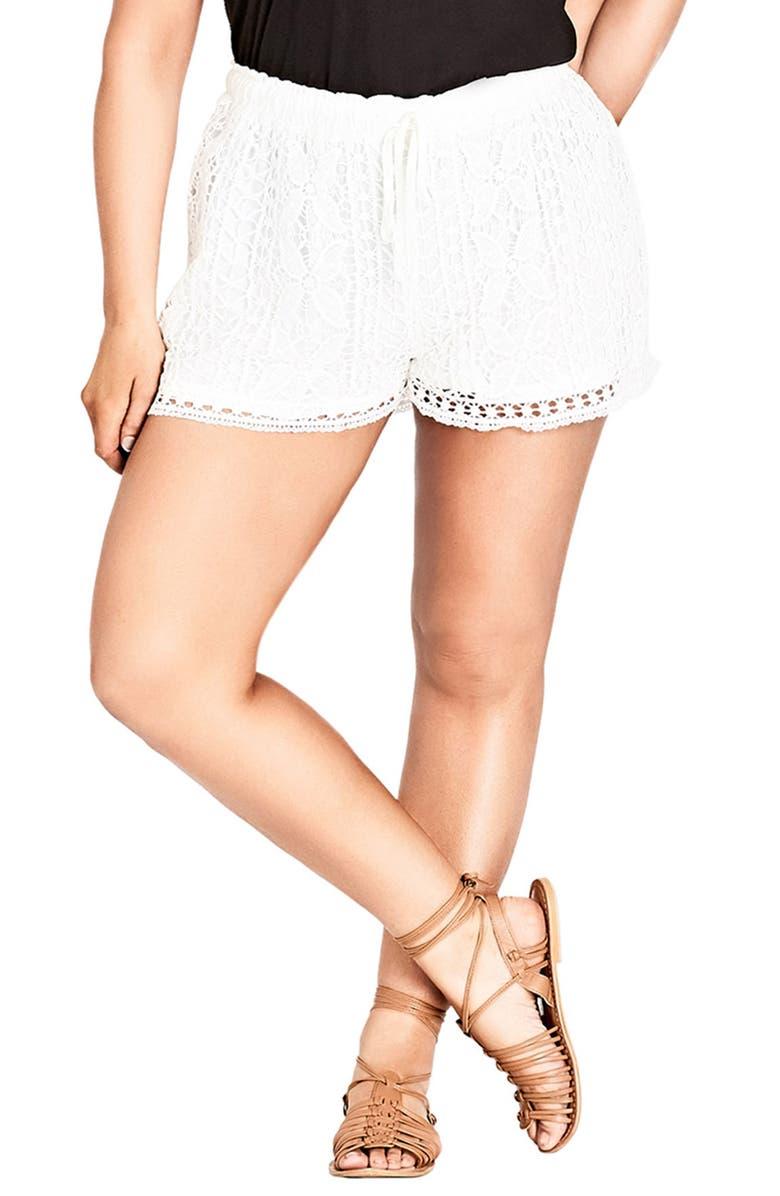 Lace Overlay Shorts