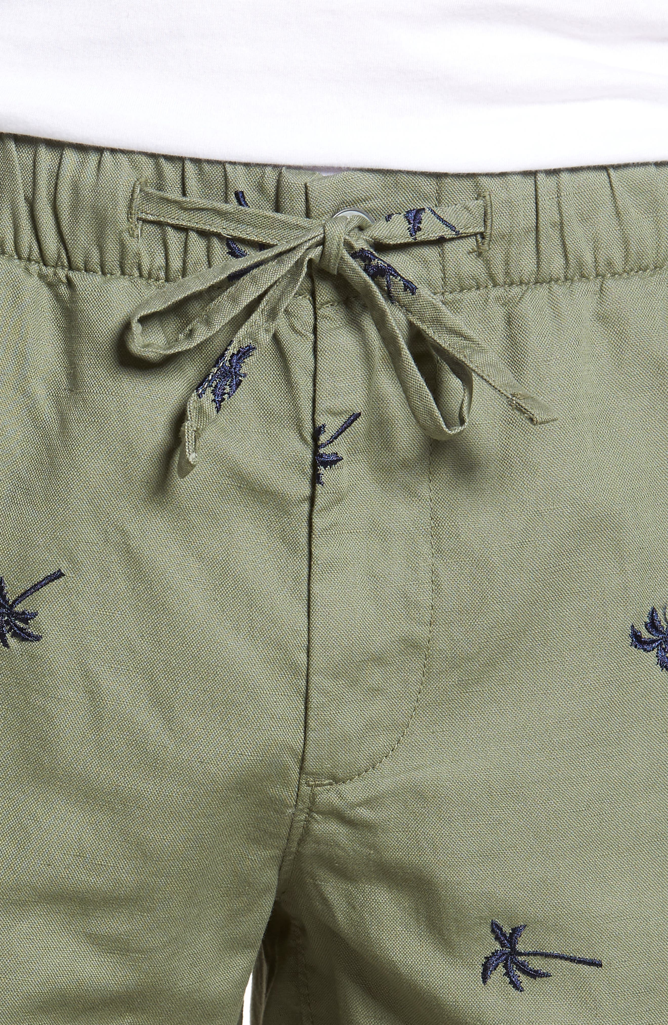 Print Beach Shorts,                             Alternate thumbnail 4, color,                             Twin Palms Olive