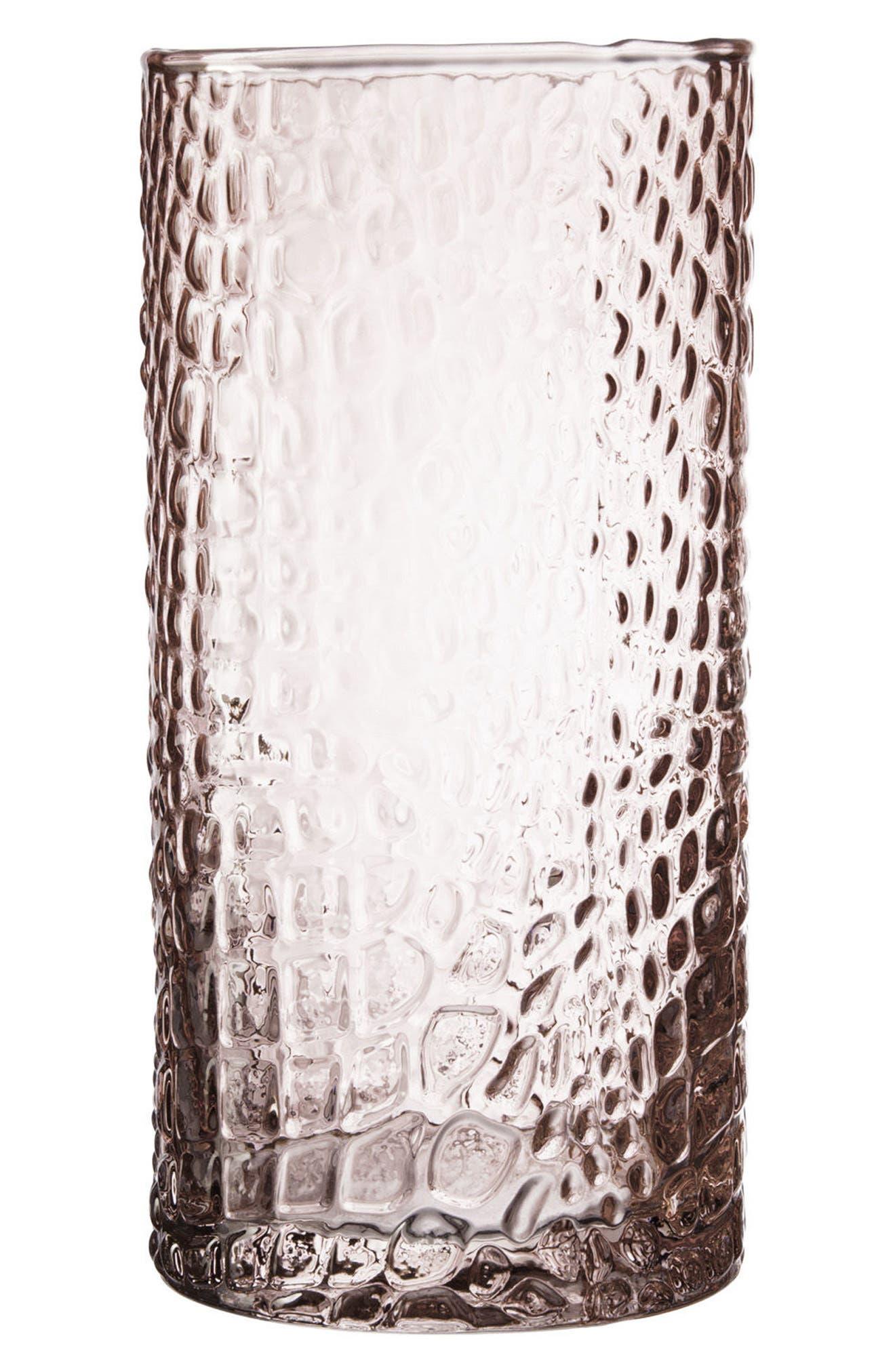 Bistro Crocodile Set of 4 Highball Glasses,                         Main,                         color, Pink