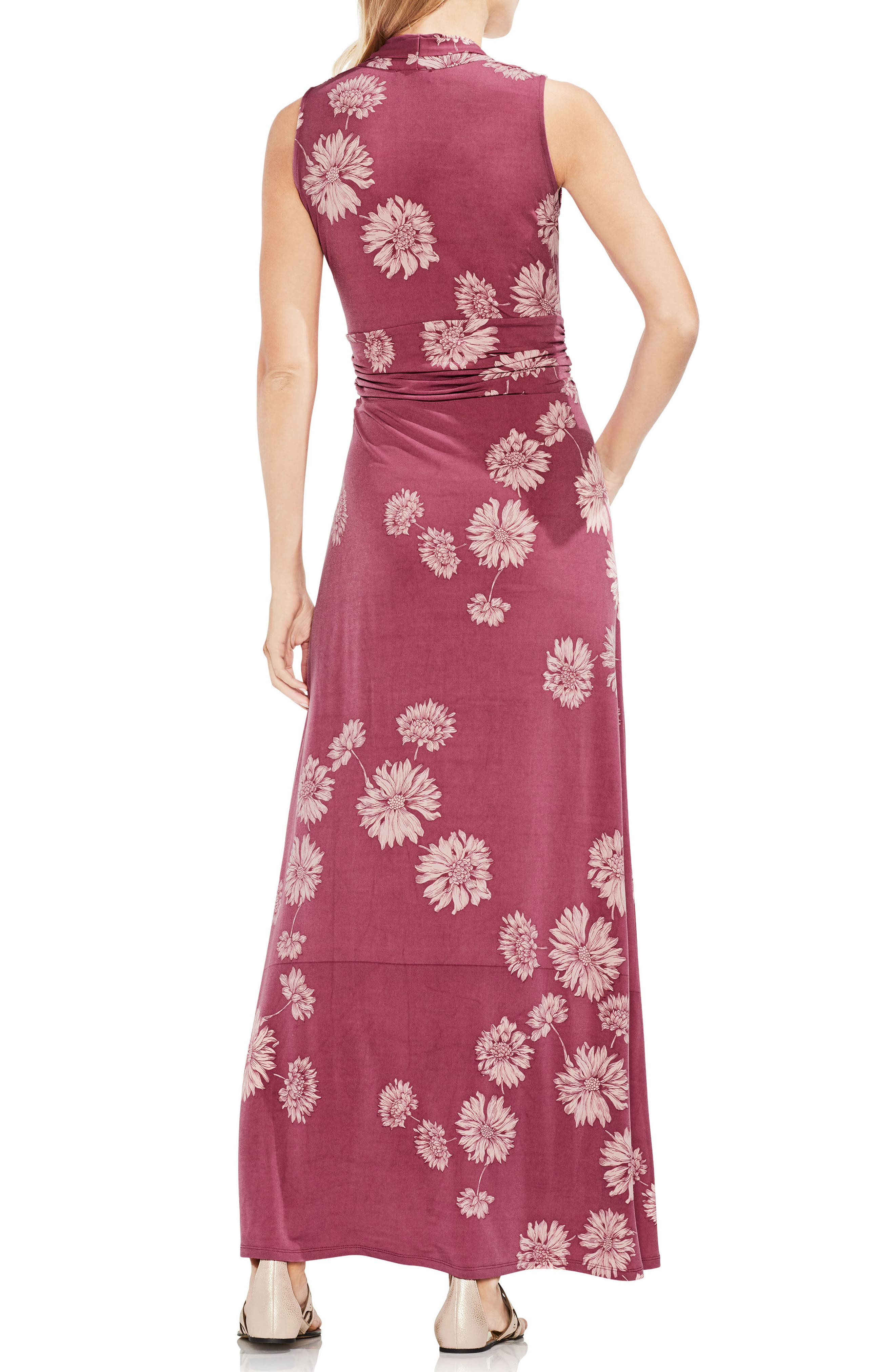 Chateau Floral Halter Maxi Dress,                             Alternate thumbnail 2, color,                             Summer Rose