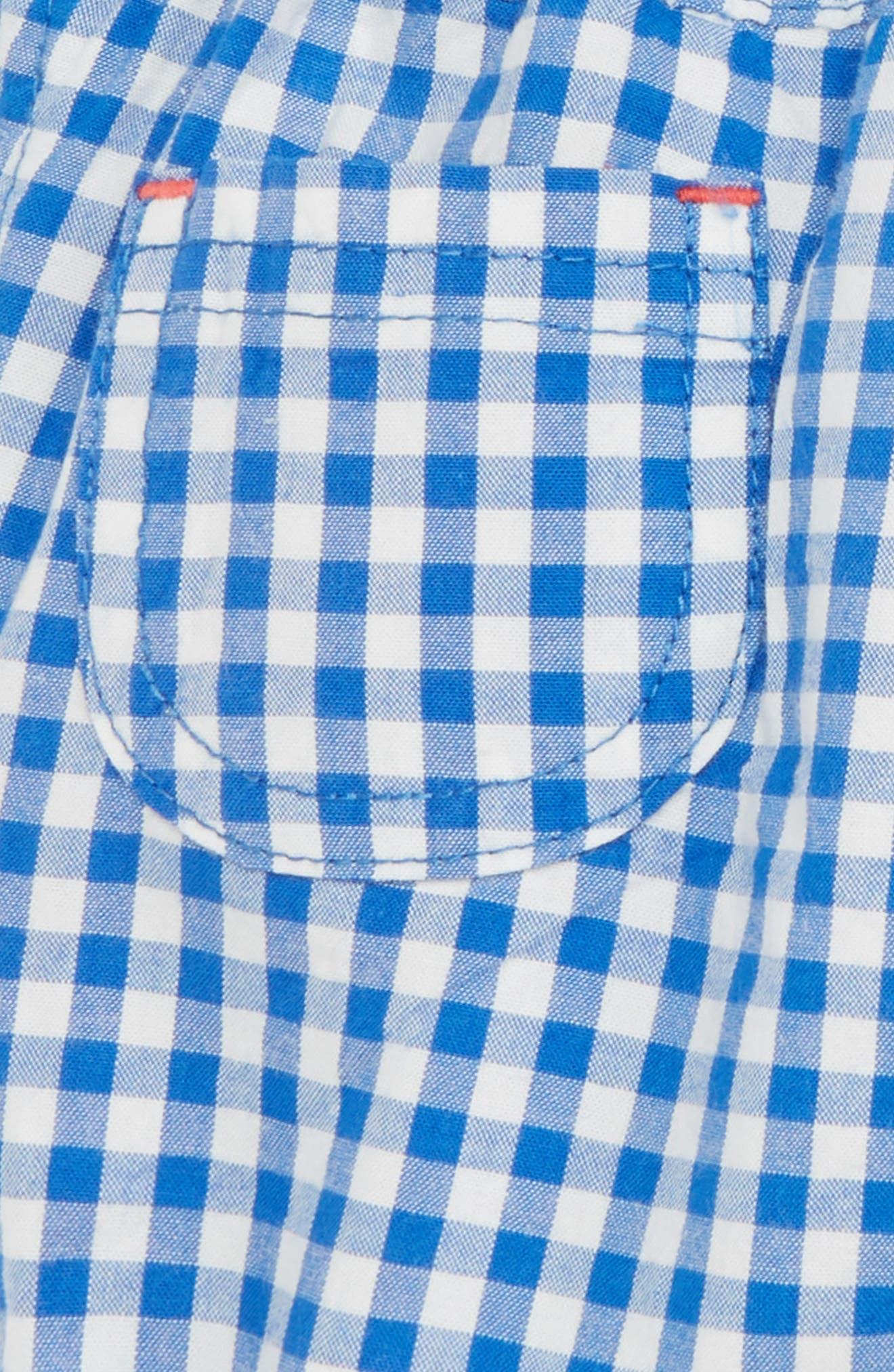 Roll-Up Trouser,                             Alternate thumbnail 3, color,                             Skipper Blue Gingham