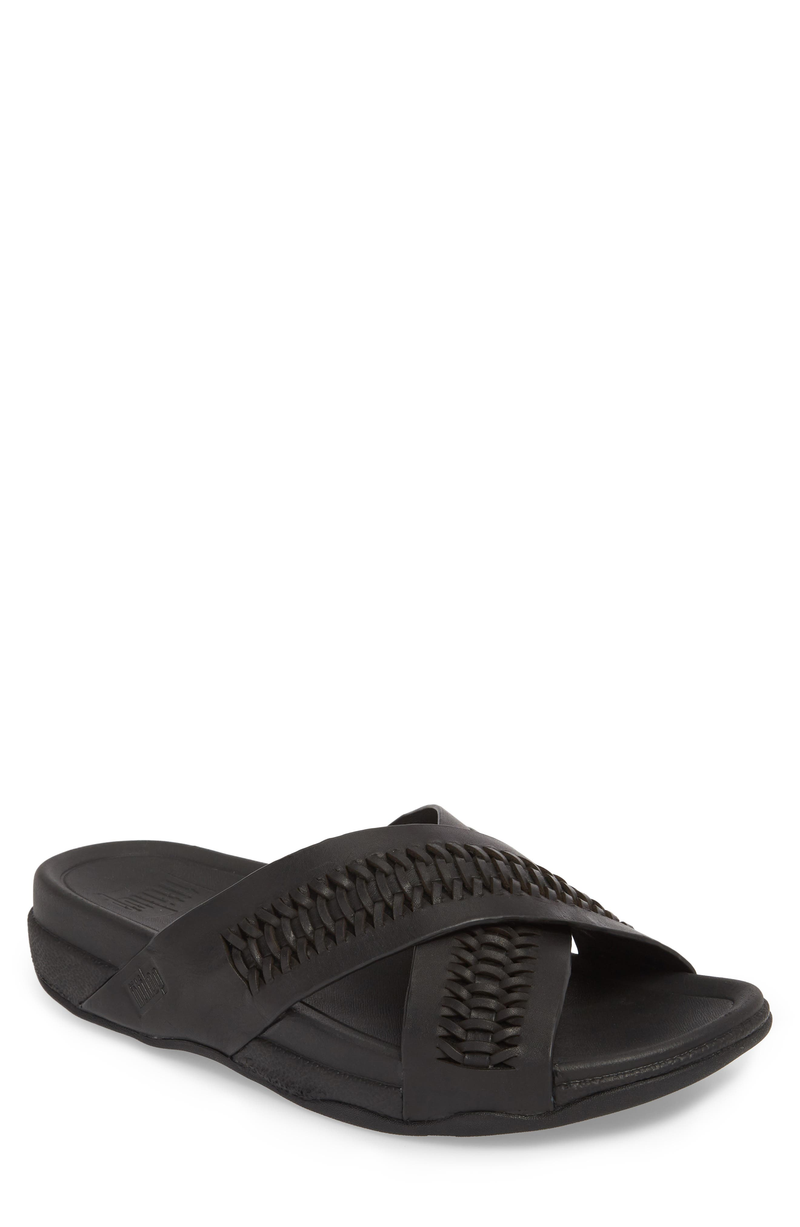 Surfer Slide Sandal,                             Main thumbnail 1, color,                             Black
