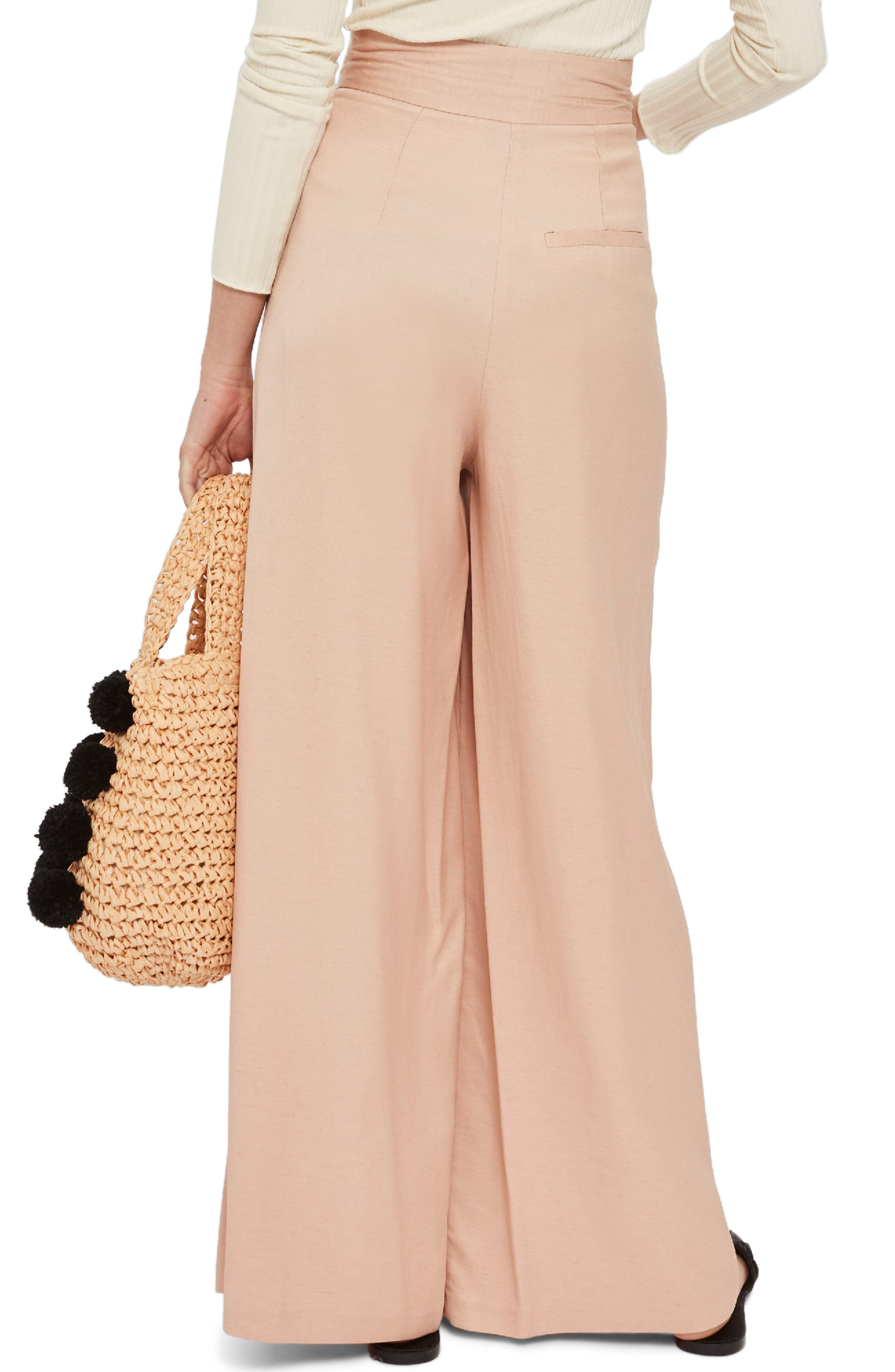 Wide Leg Sailor Trousers,                             Alternate thumbnail 2, color,                             Pink