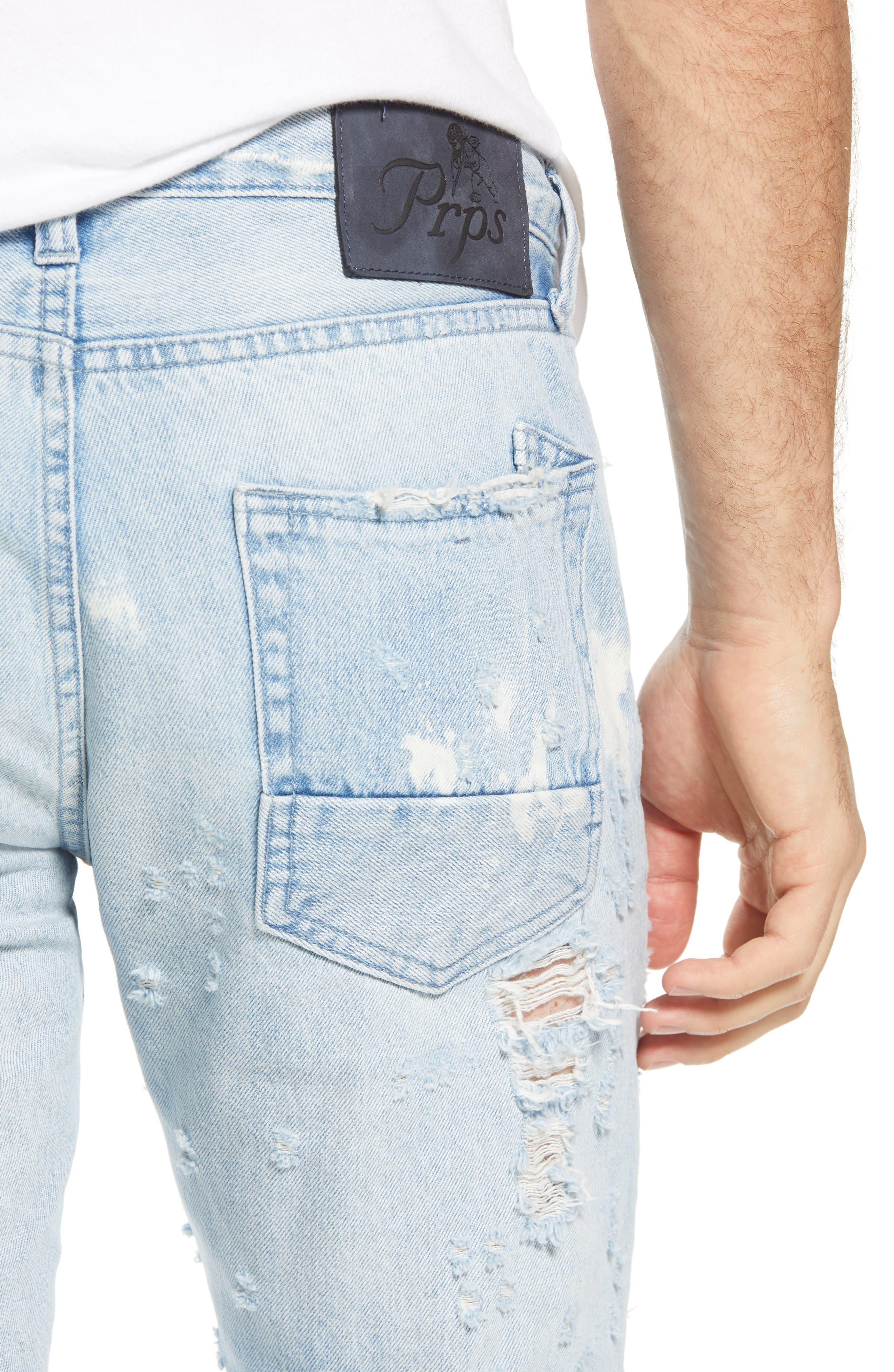 Le Sabre Slim Fit Jeans,                             Alternate thumbnail 4, color,                             Lavish