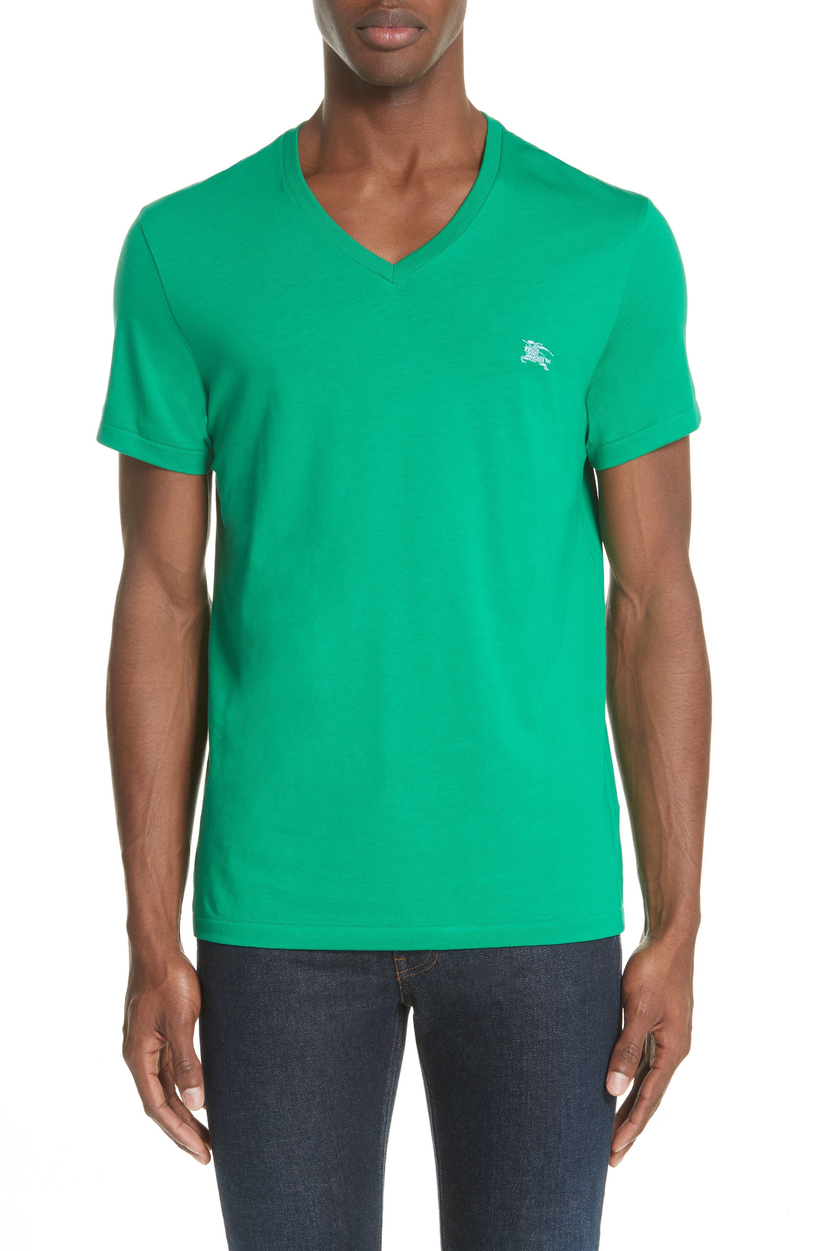 Jadford V-Neck T-Shirt,                             Main thumbnail 1, color,                             Bright Green