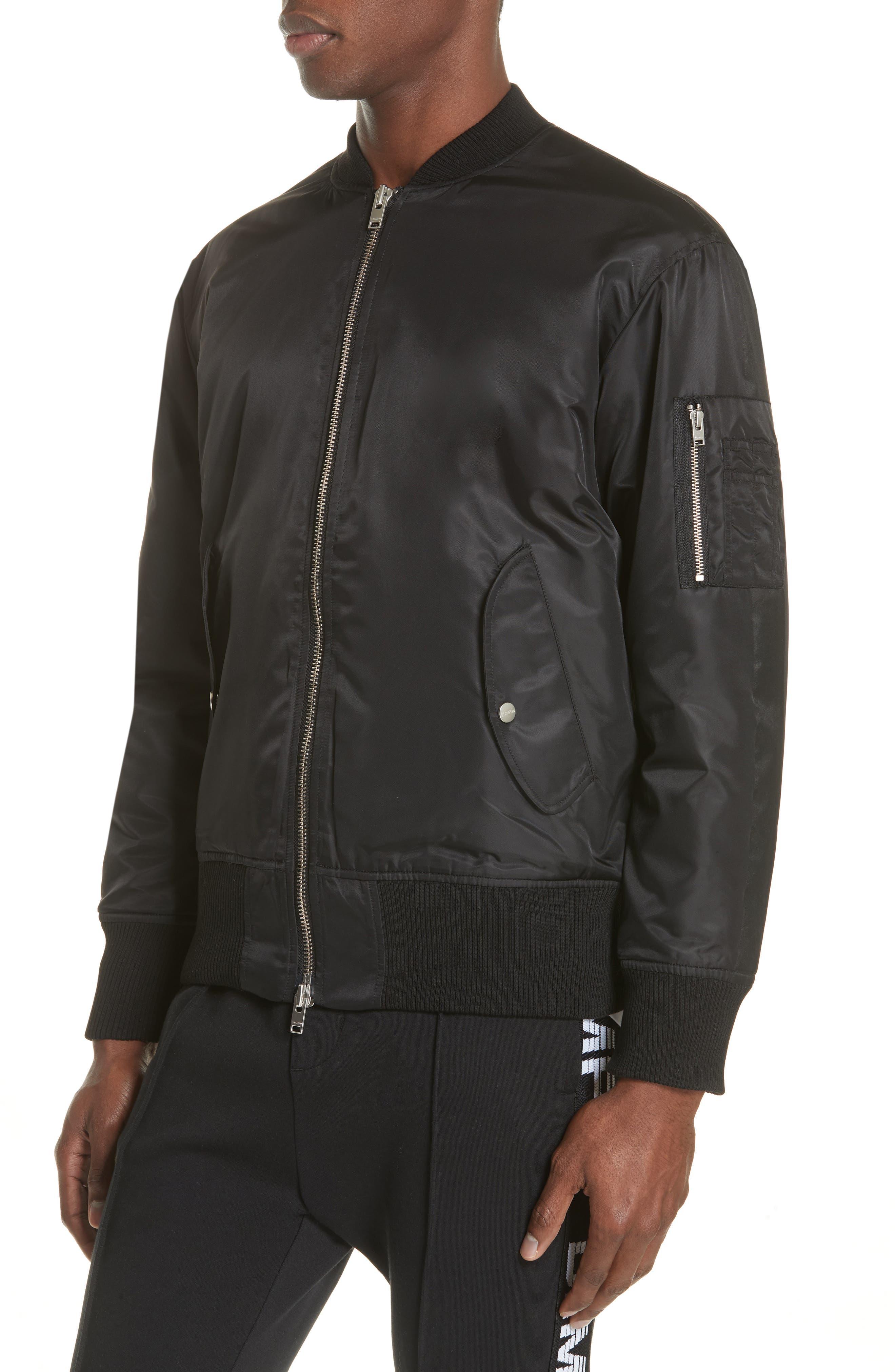 Van Ness Bomber Jacket,                             Alternate thumbnail 4, color,                             Black