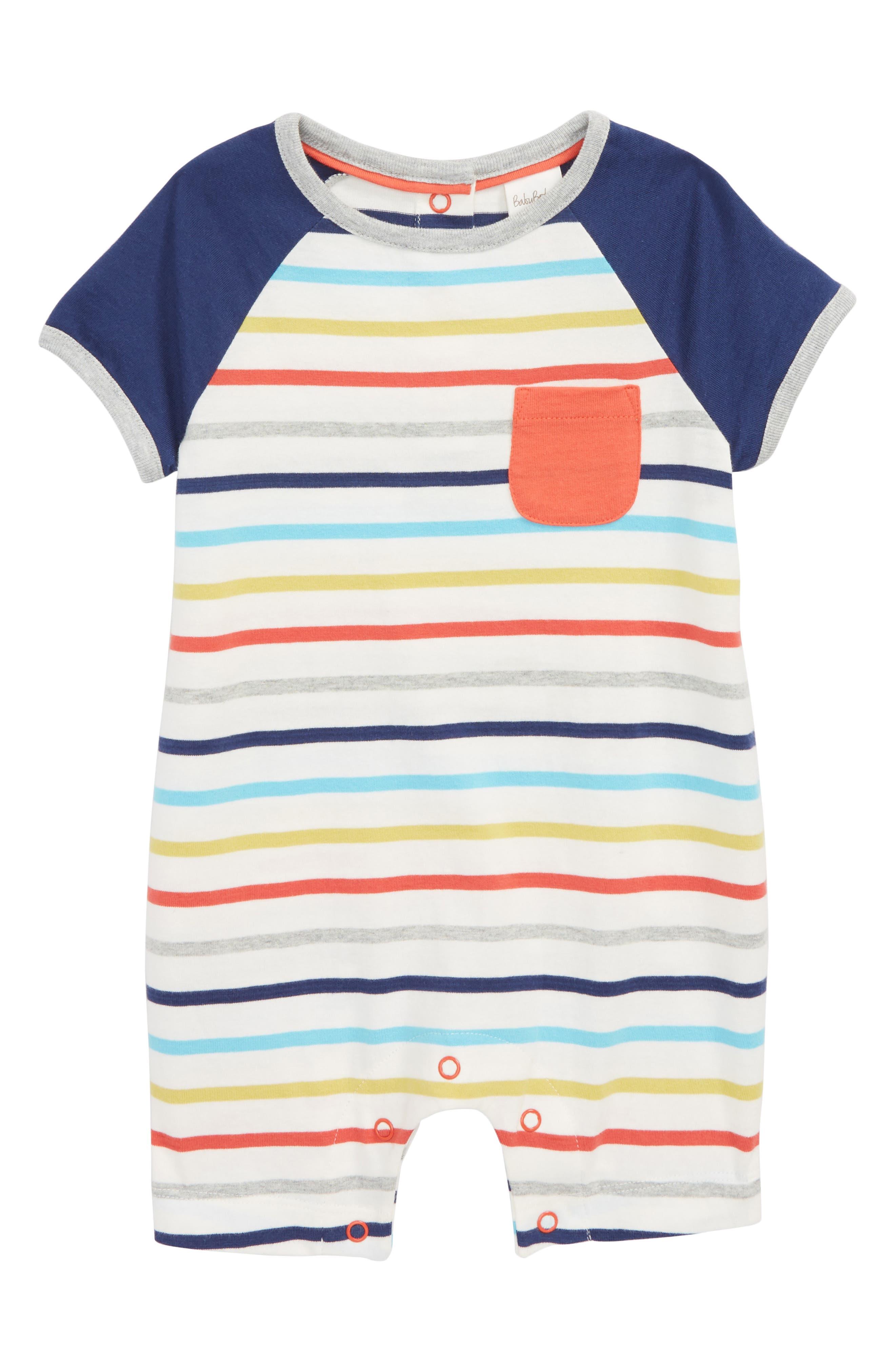 Stripe Romper,                         Main,                         color, Fun Stripe