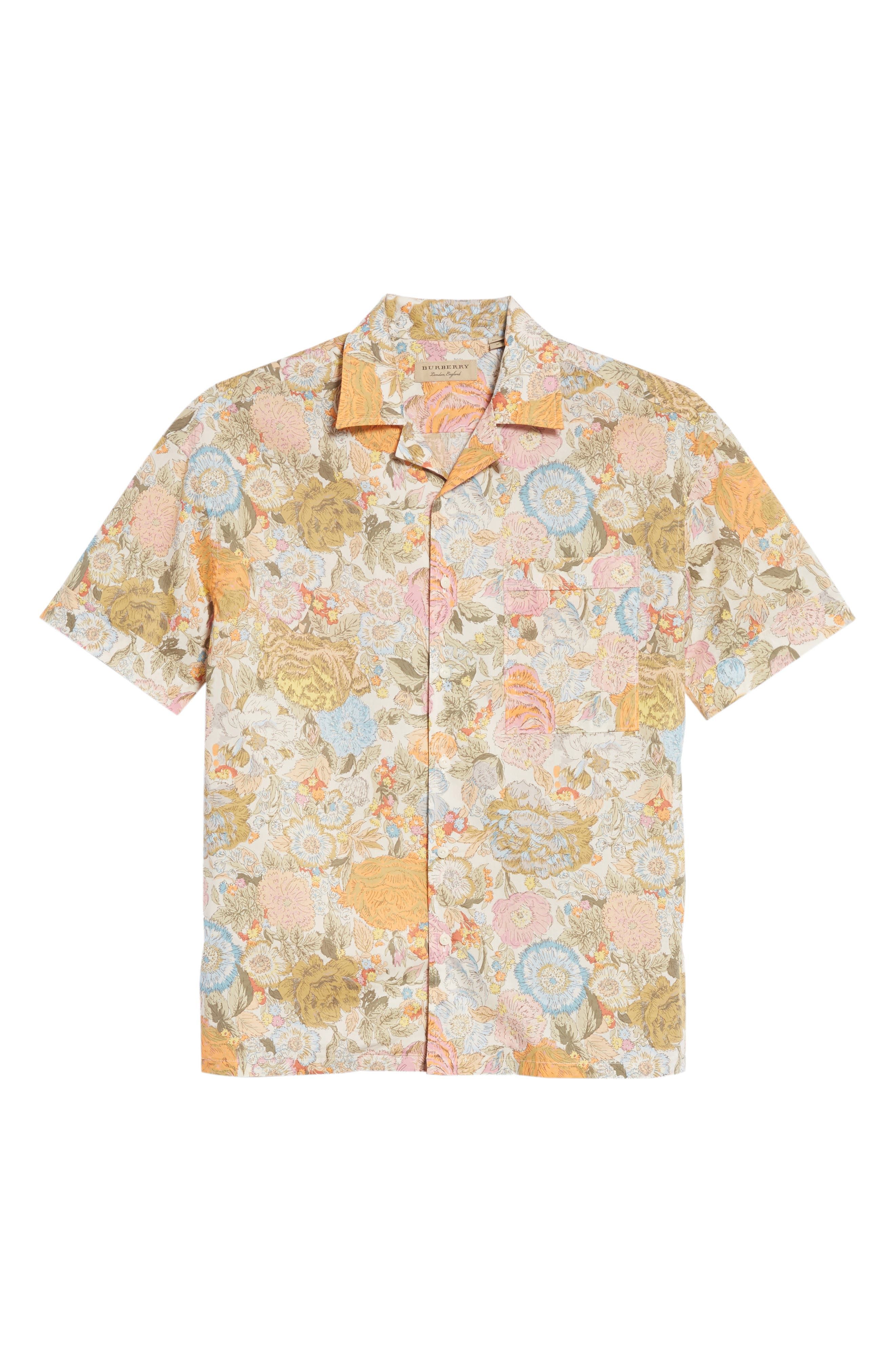 Harley Floral Print Shirt,                             Alternate thumbnail 6, color,                             Bright Orange