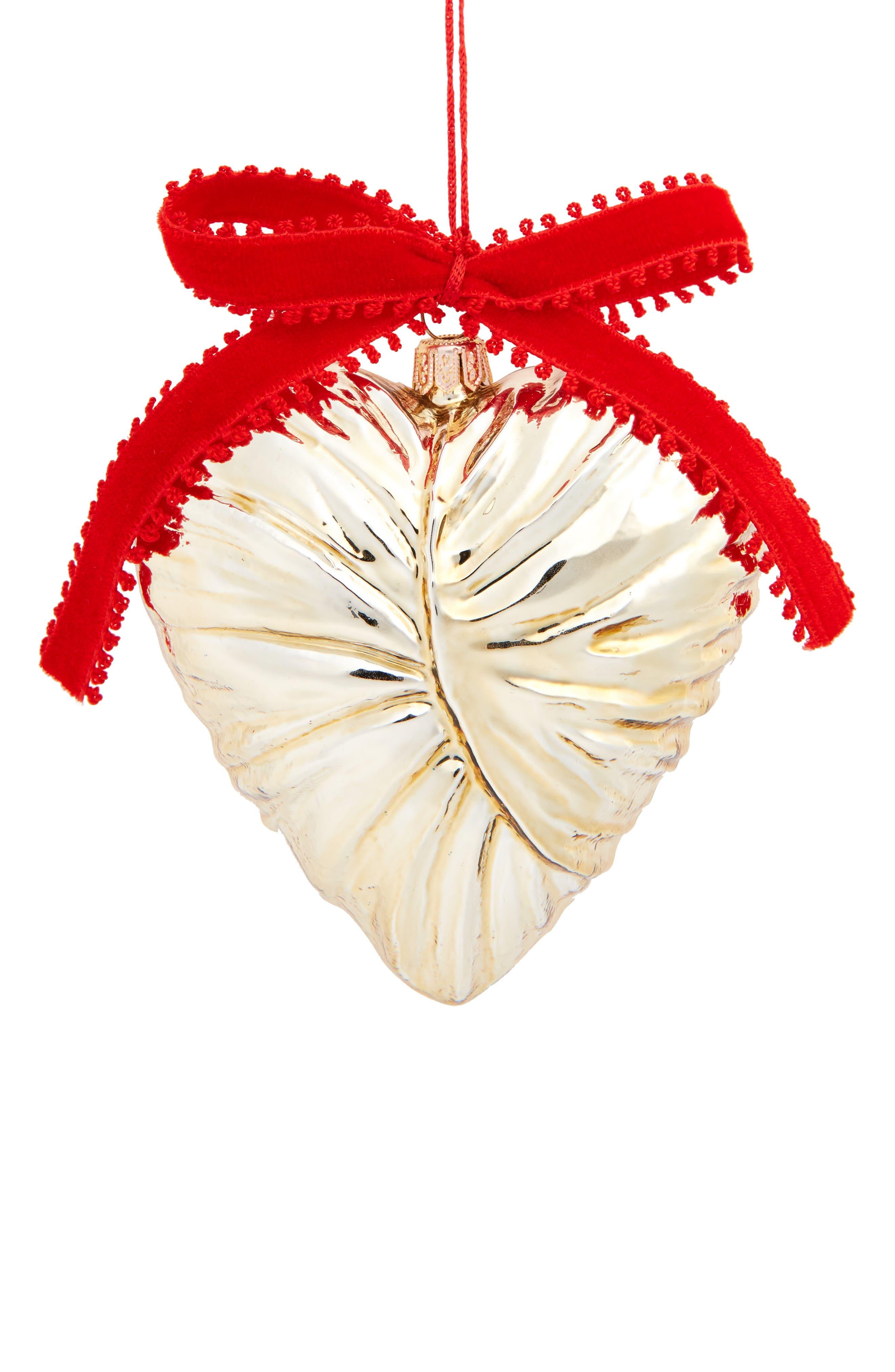 Ambrose Heart Ornament,                             Main thumbnail 1, color,                             Gold
